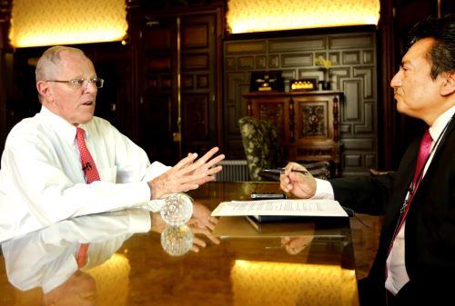 Entrevista al presidente Pedro Pablo Kukzynski. Foto: ANDINA/Prensa Presidencia.