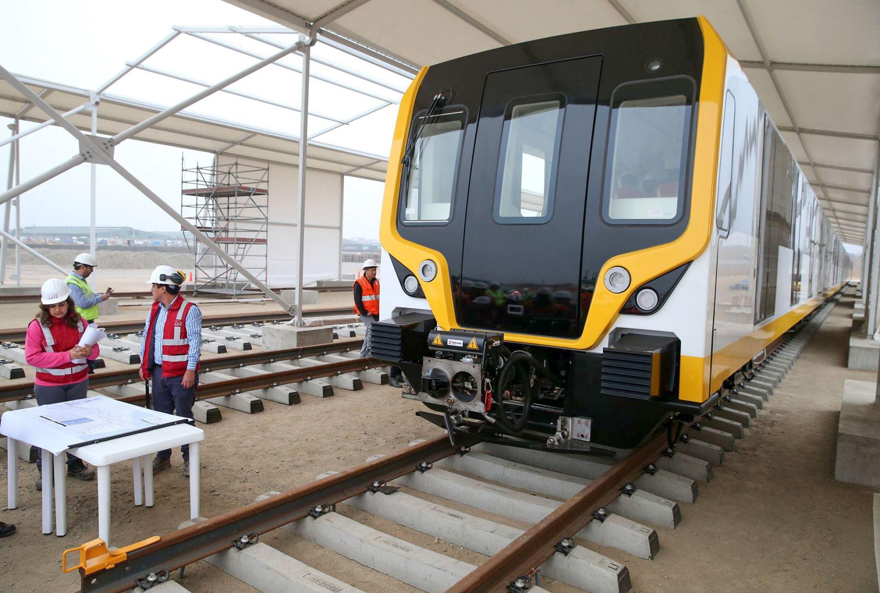 Línea 2 del Metro de Lima. Foto: ANDINA/Vidal Tarqui