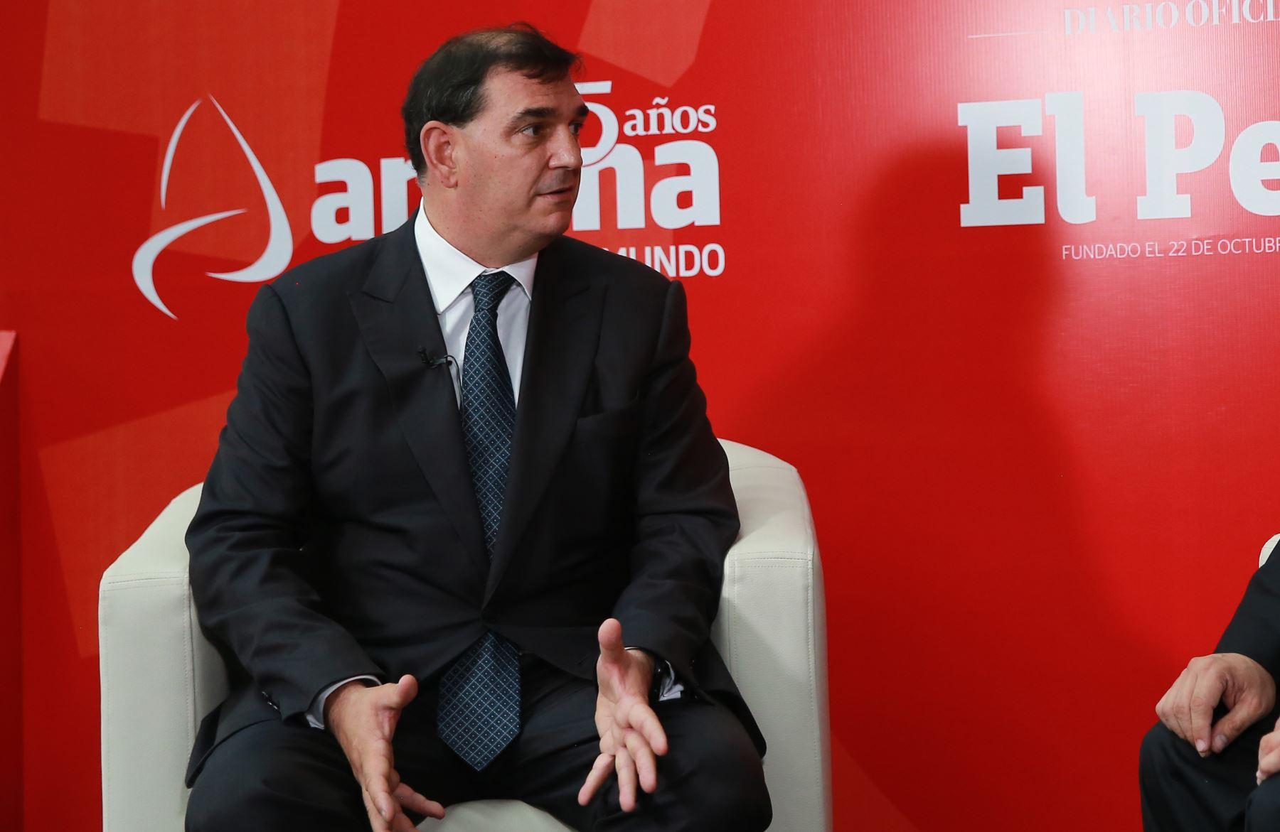 Presidente del Consejo Empresarial de la Alianza del Pacífico. Alfonso Bustamante. ANDINA/Jhony Laurente