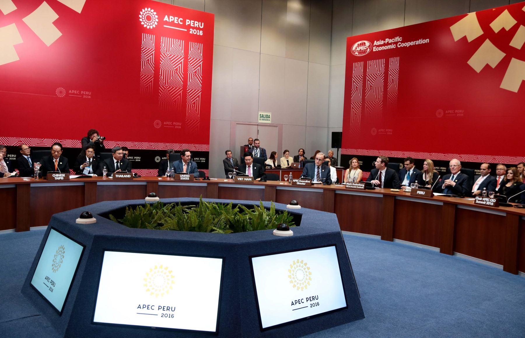 Las reuniones de APEC llegan a su fin esta noche. Foto: ANDINA/Prensa Presidencia.