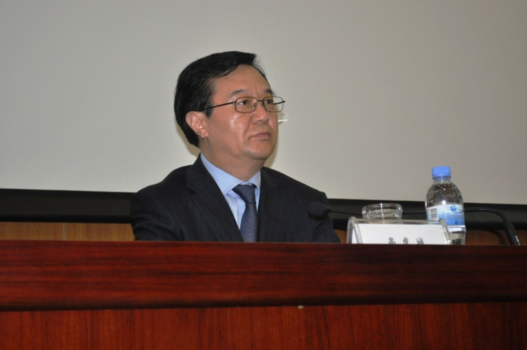 Ministro de Comercio Exterior de China Gao Hucheng.
