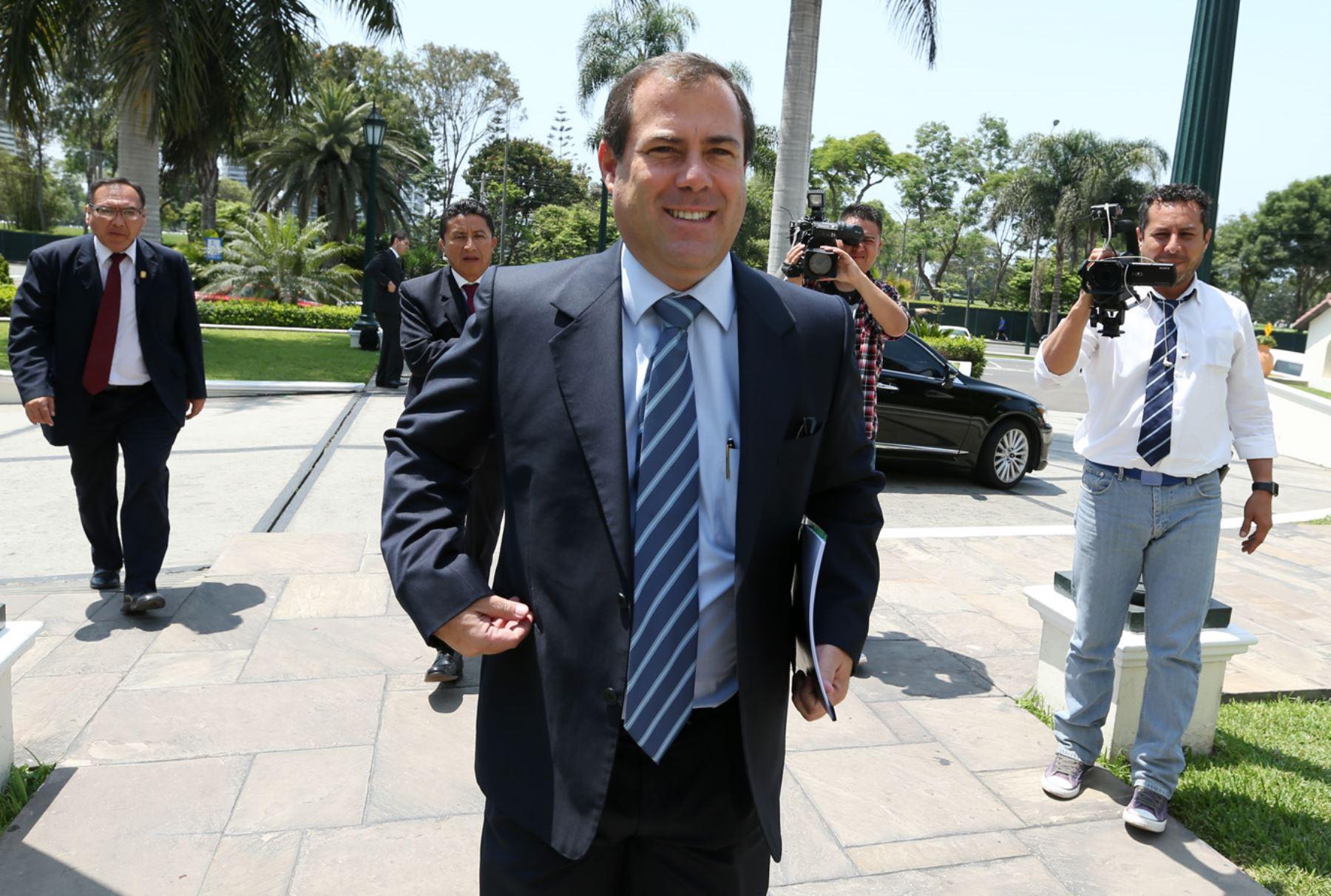 Ministro de la Producción, Bruno Giuffra. ANDINA/Melina Mejía