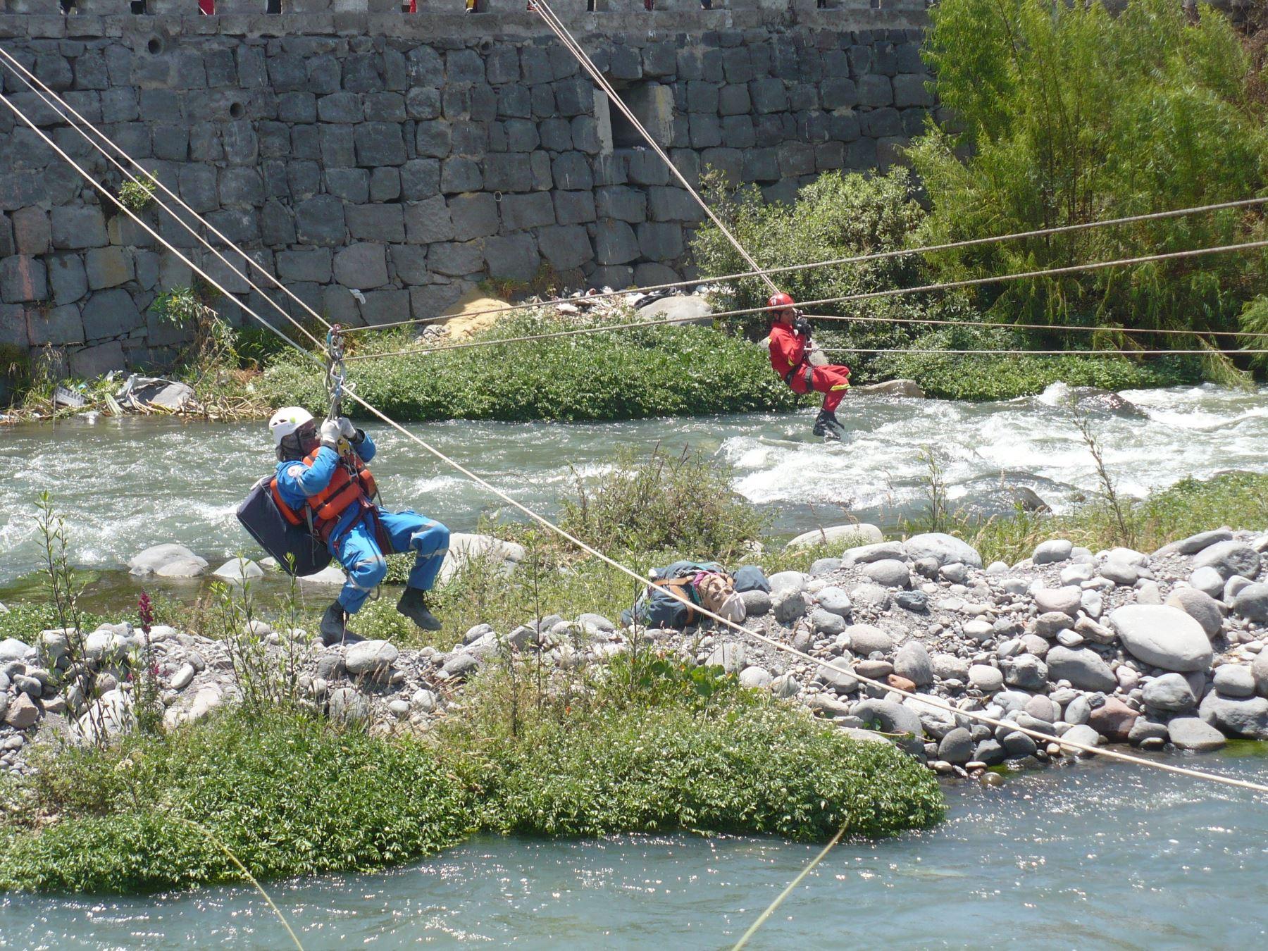 Escenario planteado para el ejercicio fue el incremento del caudal del río Chili por el colapso de la represa El Frayle, cuya estructura se encuentra dañada.