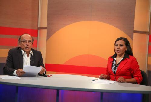Conductores de Ñuqanchik en la cobertura del proceso electoral Congreso 2020. ANDINA/Vidal Tarqui