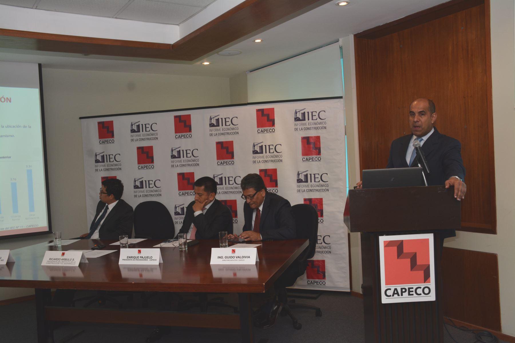 Ricardo Arbulú, presidente del Instituto de la Construcción y Desarrollo. Foto: Capeco.