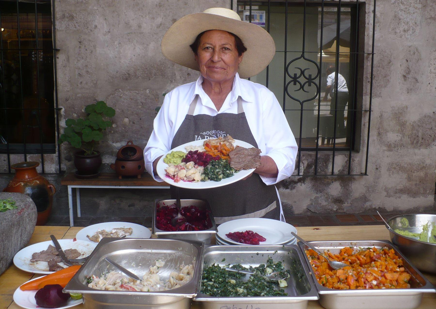 Cocinera Benita Victoria Quicaño estará presente en Mistura. ANDINA/Rocío Méndez