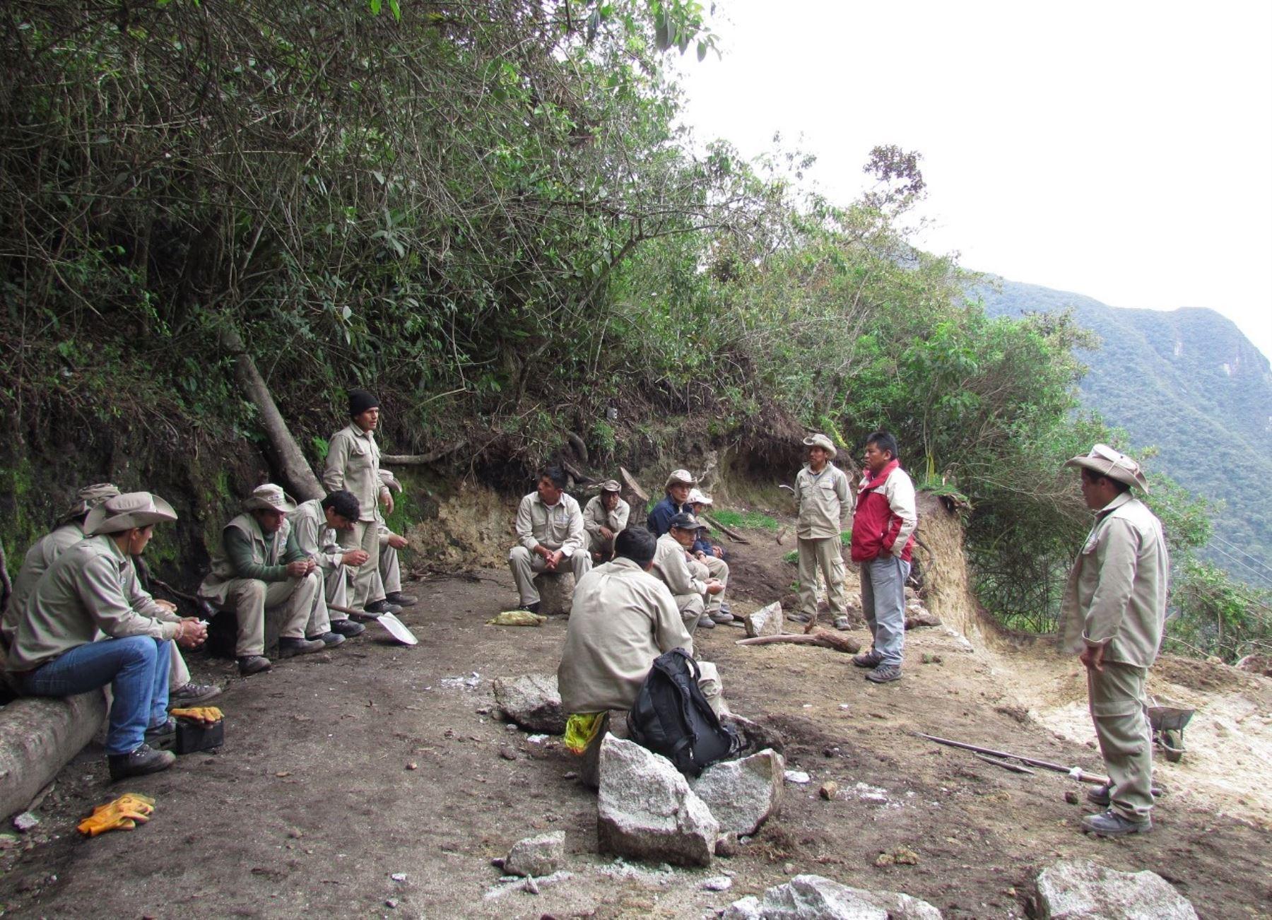 Habilitan zonas de camping para turistas que recorren Camino Inca a Machu Picchu, en Cusco. ANDINA/Difusión