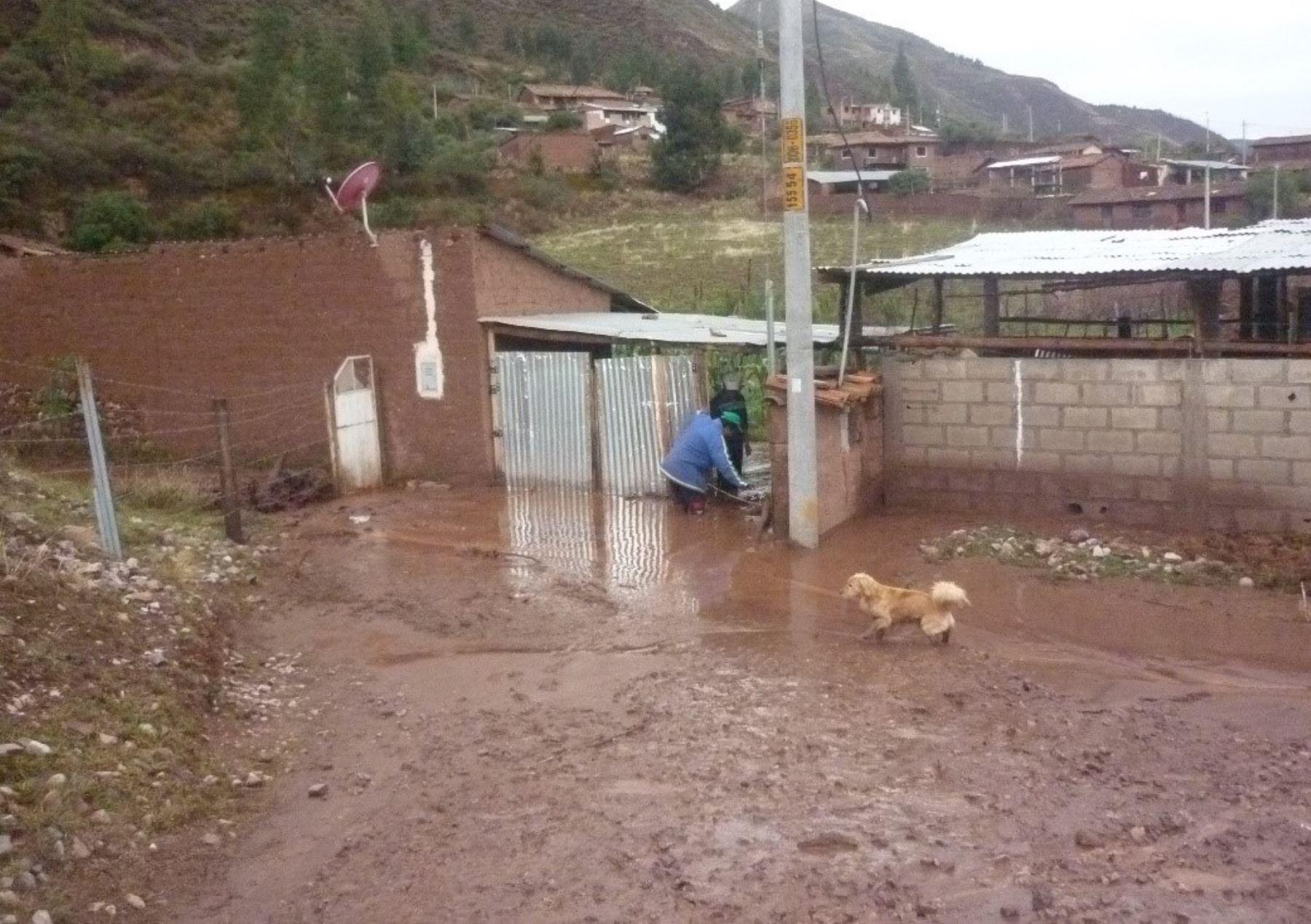 Viviendas resultaron afectadas por las lluvias e inundaciones. Cortesía