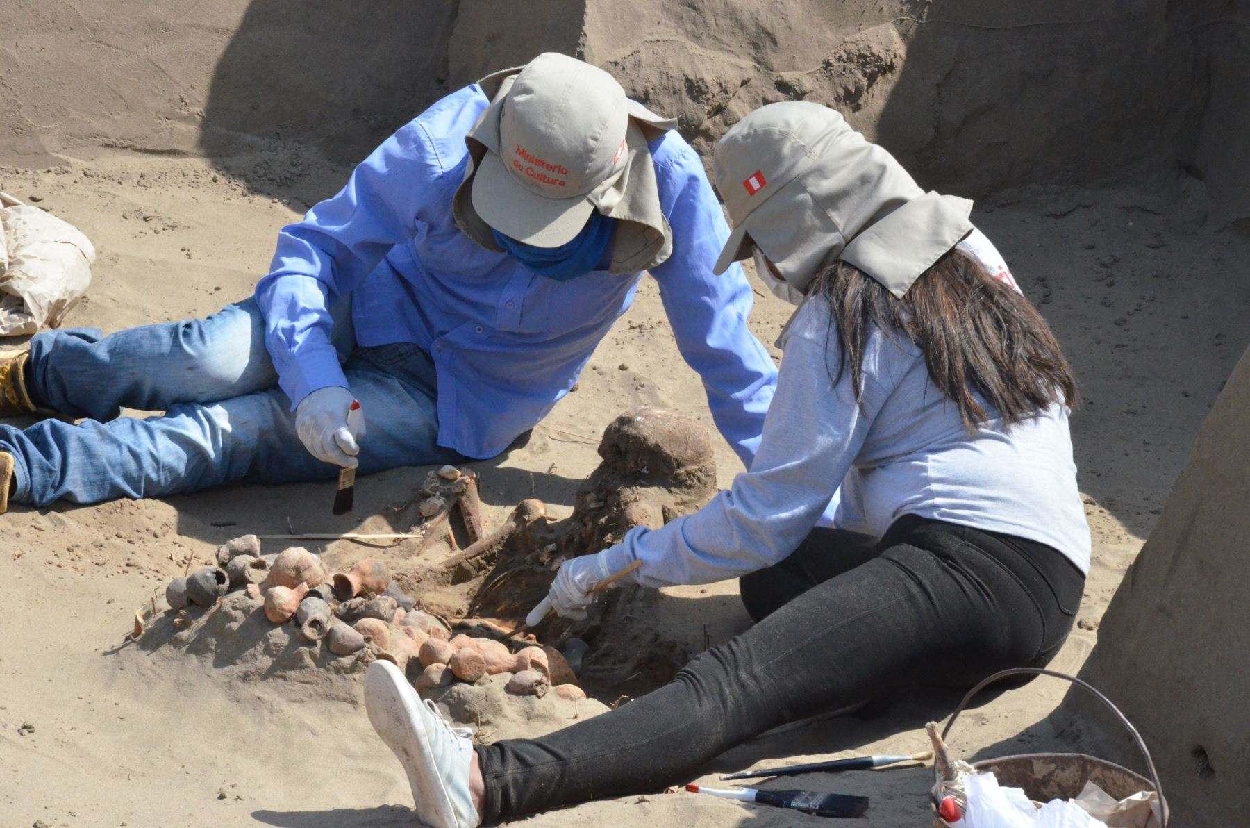 Investigación del patrimonio arqueológico de Lambayeque.