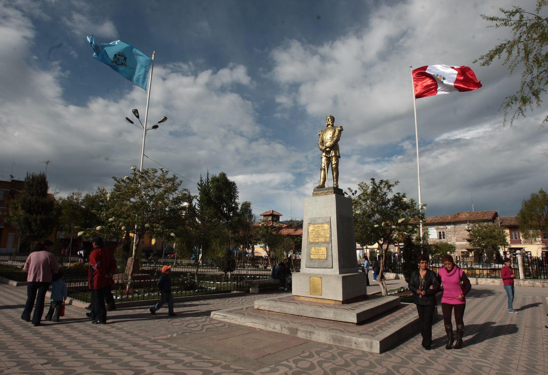 """Plaza de Armas de la ciudad de Jauja, una de las """"capitales históricas"""" del Perú.Foto:  ANDINA/archivo"""