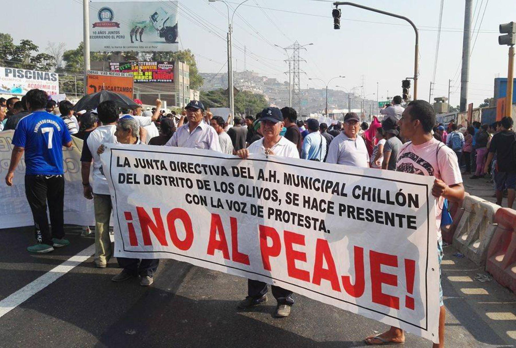Vecinos piden cancelación definitiva de peaje en Puente Piedra. Foto: ANDINA/Percy Buendía.