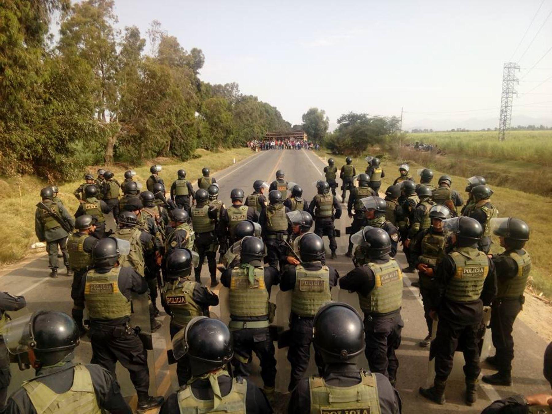Policía interviene luego de enfrentamiento armado en azucarera Andahuasi. ANDINA/Archivo