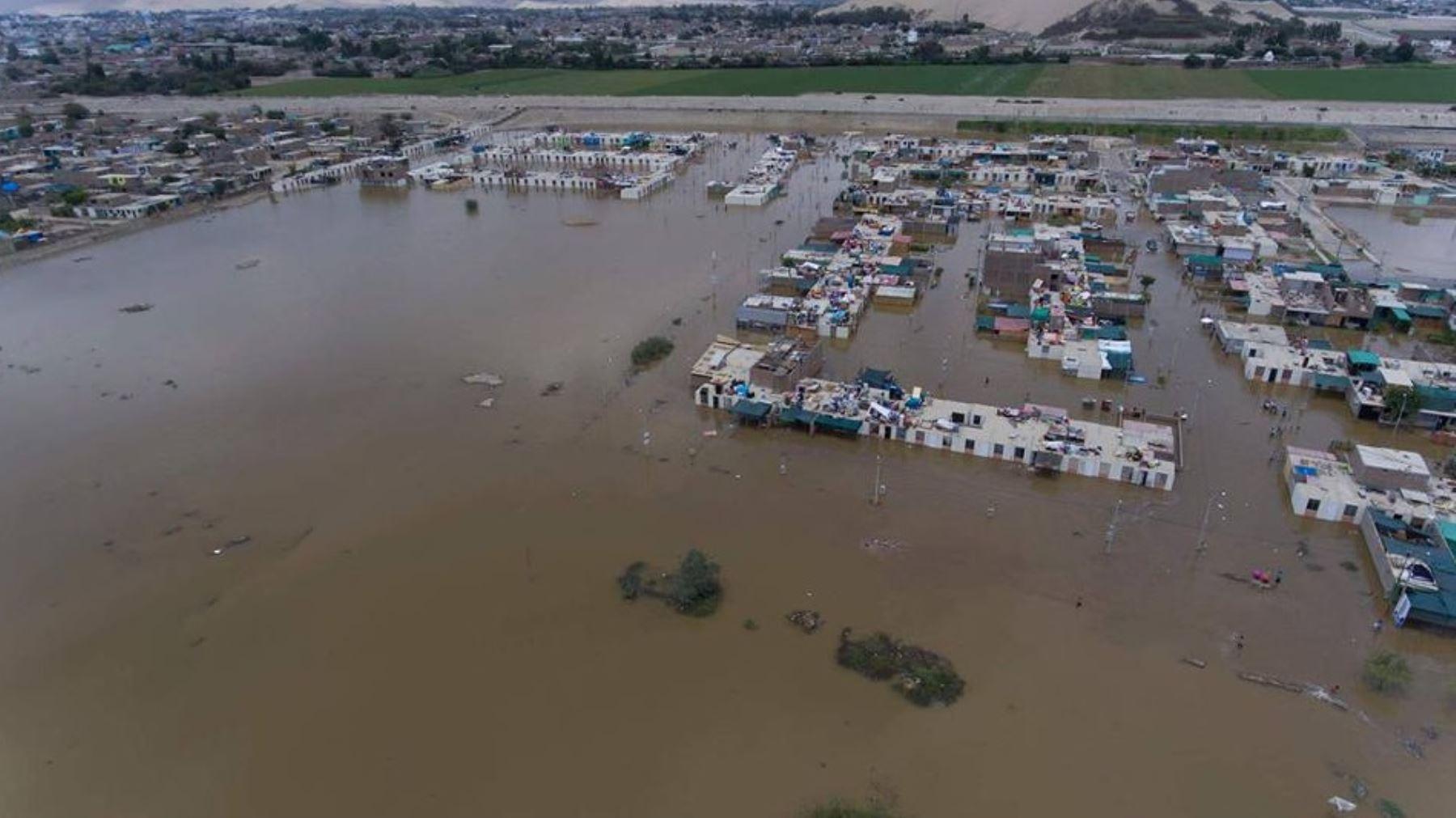 Inundación en distritos de la región dejó más de 5,000 familias damnificadas. Foto: Emerson Bautista Linares