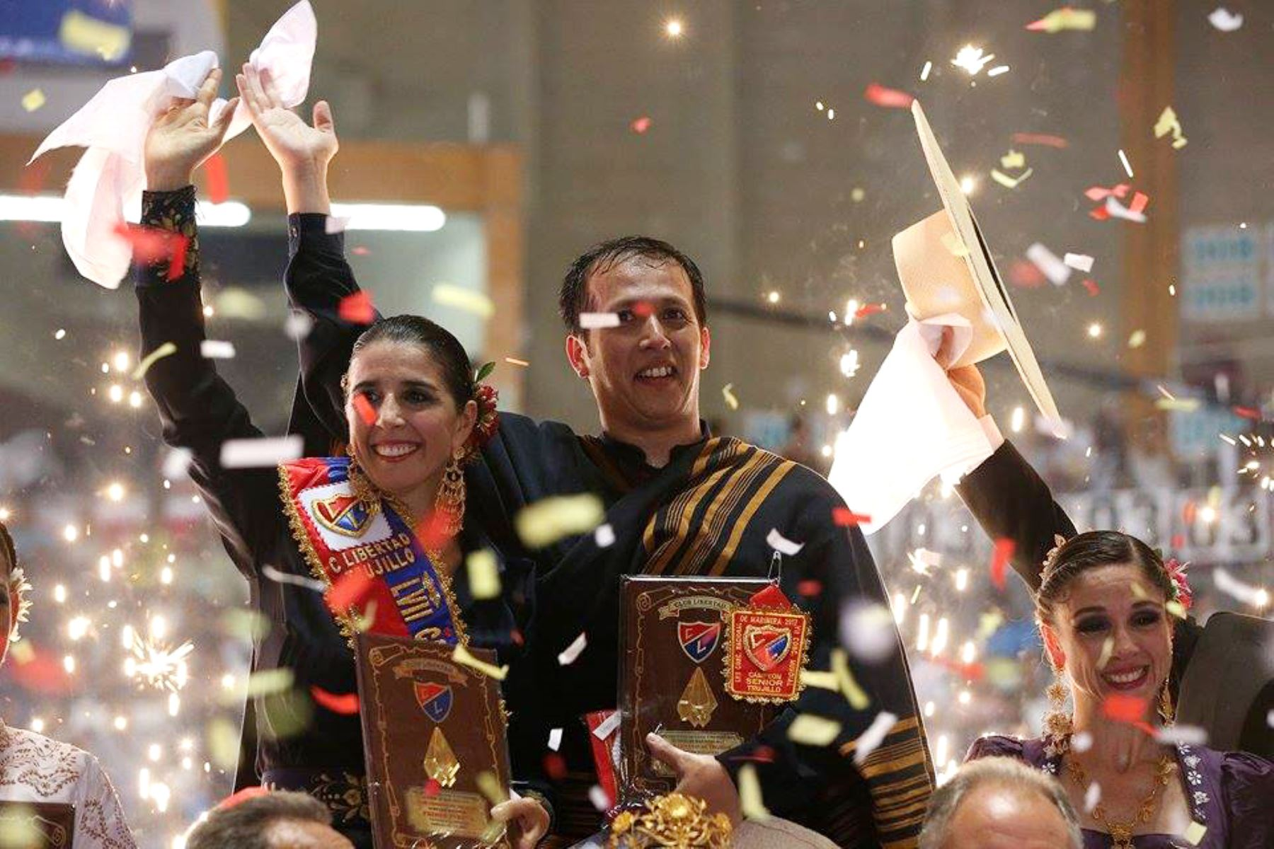TRUJILLO PERÚ, ENERO 29. Ganadores del XX Concurso Nacional de Marinera. Foto: ANDINA/Dante Zegarra