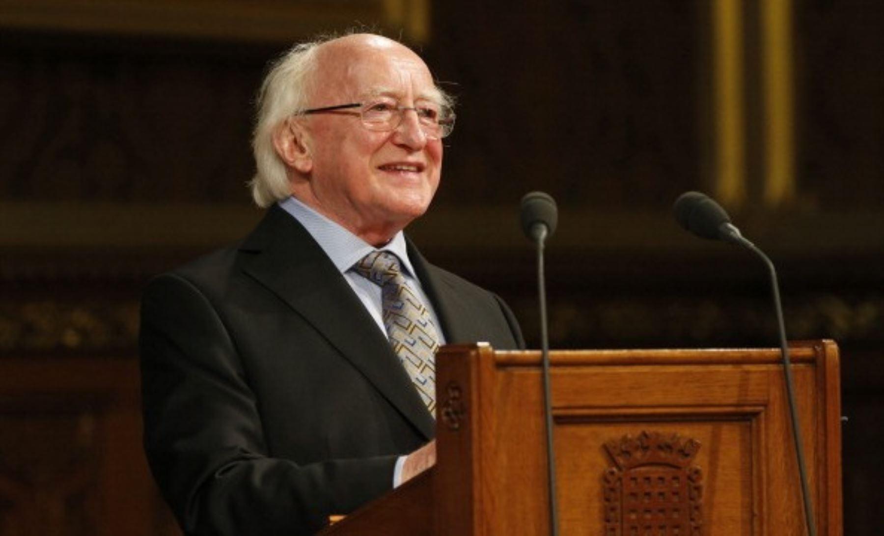 El presidente de Irlanda, Michael D. Higgin. AFP