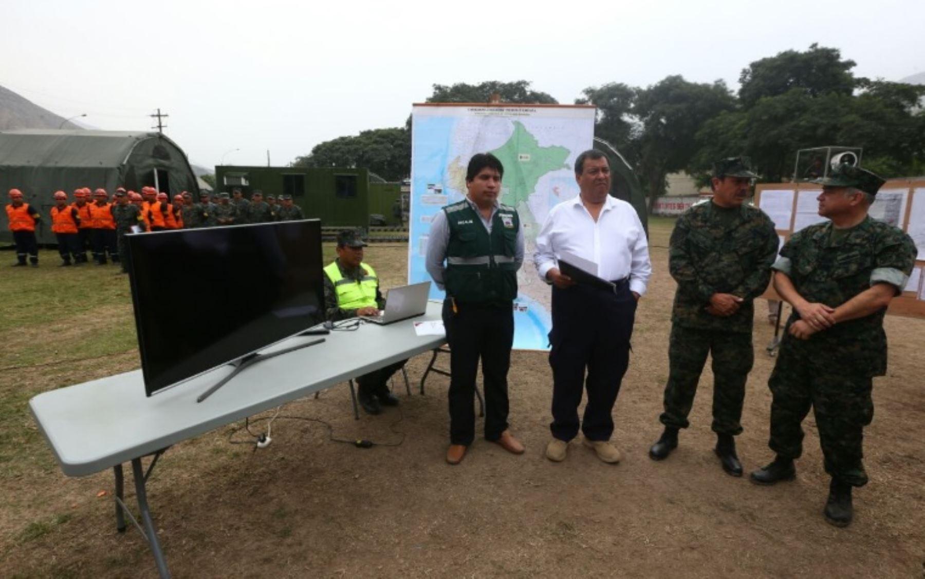 Ministro de Defensa, Jorge Nieto, destacó que se ha desplegado hasta el momento 32 toneladas de ayuda humanitaria y 632 maquinarias a las zonas afectadas por los desastres naturales.