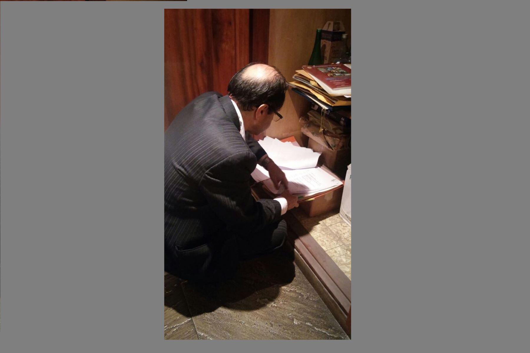 Fiscalía allana casa del expresidente Alejandro Toledo por caso Odebrecht. FOTO EFE