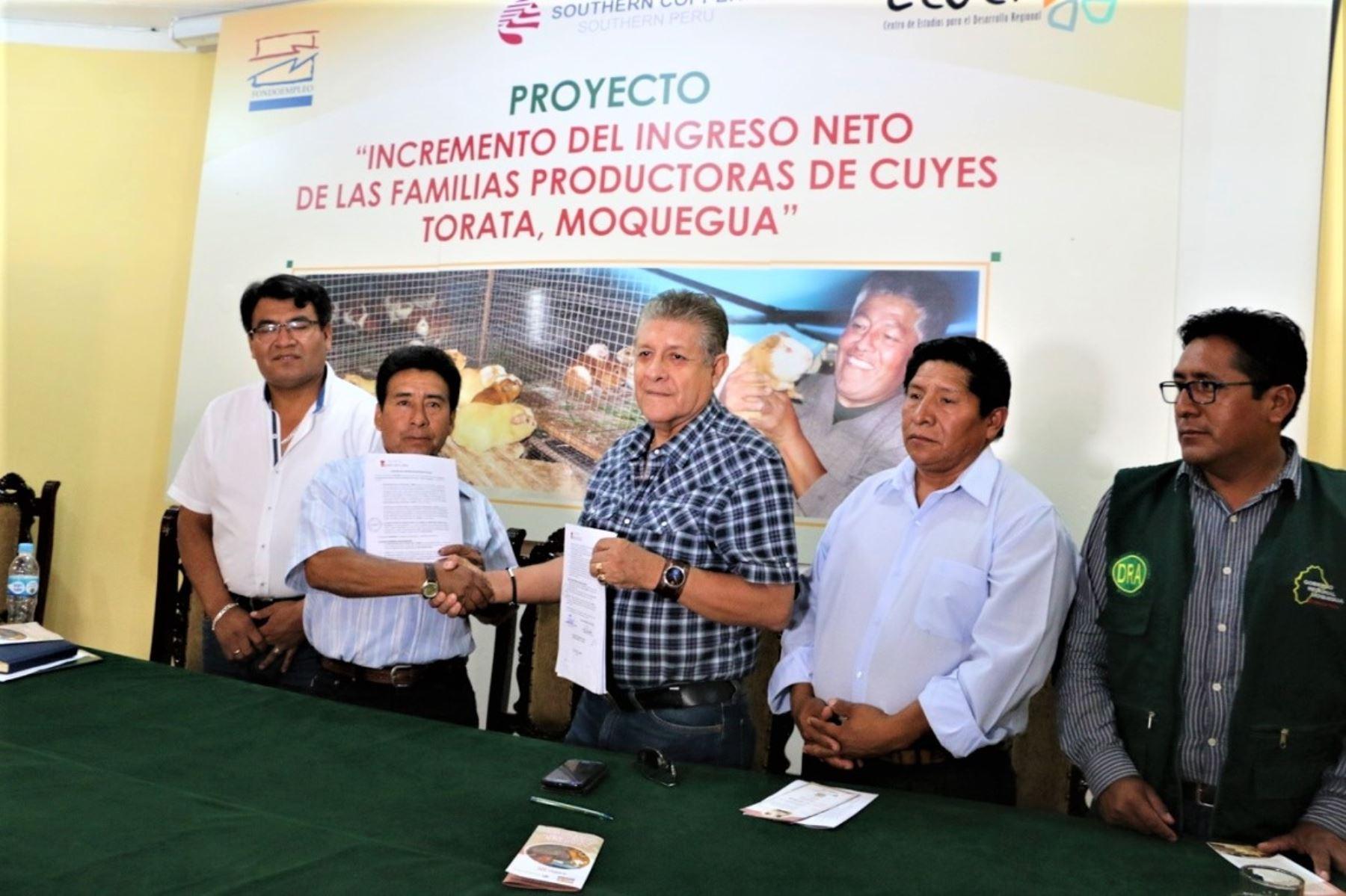 Manuel Sierra López exhortó a los productores de cuy a trabajar de manera articulada, participativa y comprometida.