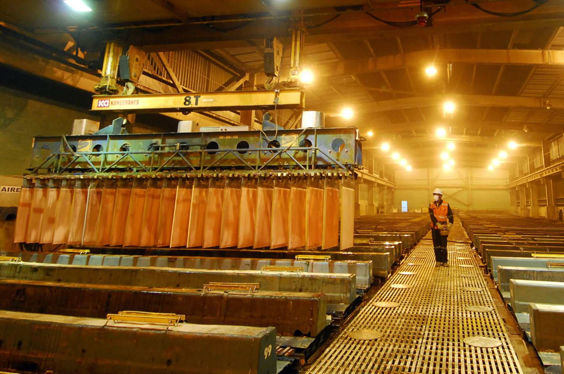 Producción de cobre. ANDINA/Difusión