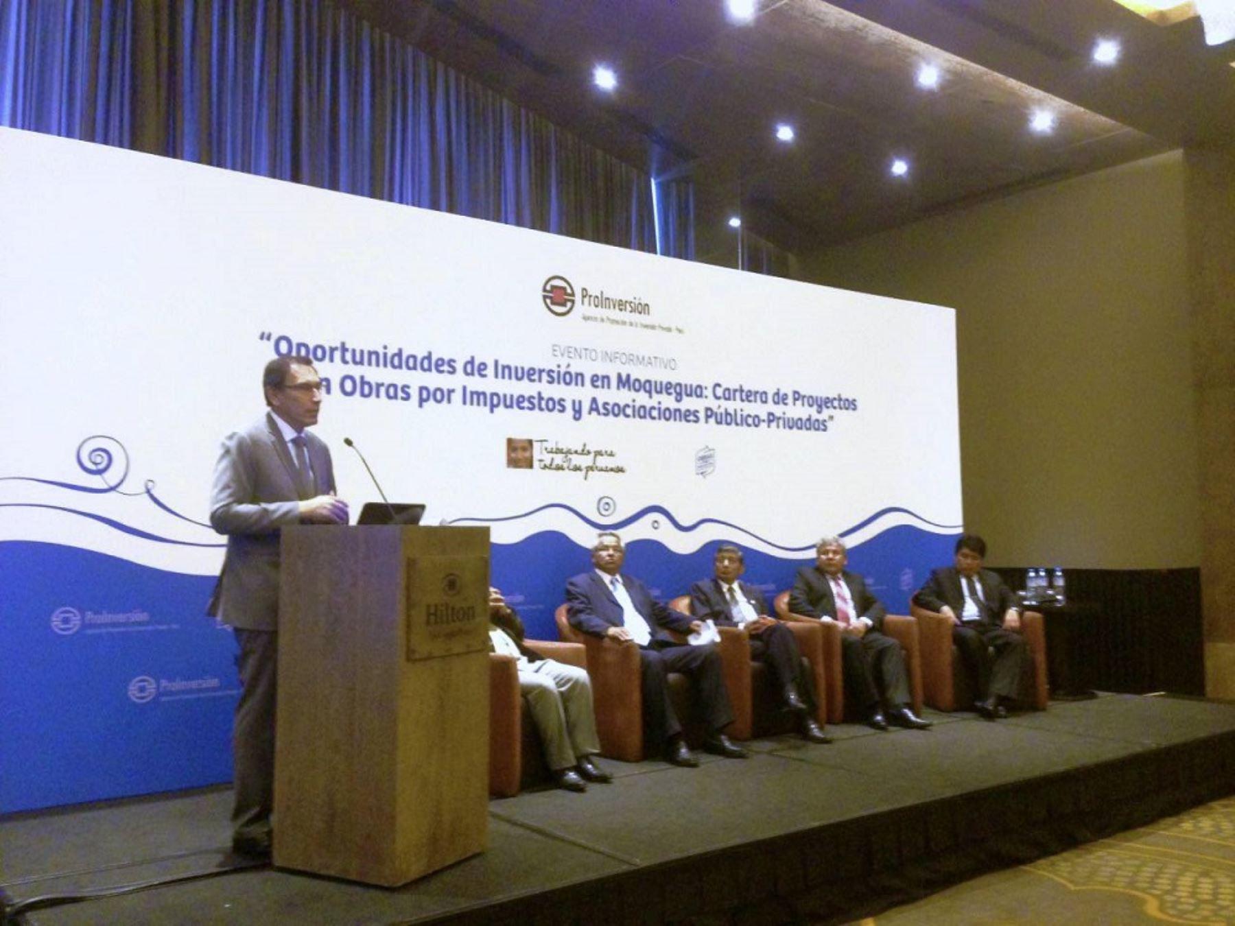 El primer vicepresidente de la República y ministro de Transportes y Comunicaciones, Martín Vizcarra, destacó hoy el soporte técnico de la Agencia de Promoción de la Inversión Privada (ProInversión) en el desarrollo de proyectos de infraestructura en el país.