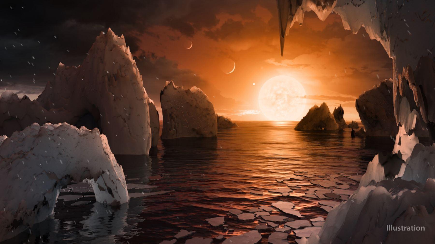 Descubren otro sistema estelar con planetas semejantes a la Tierra. Foto: NASA.