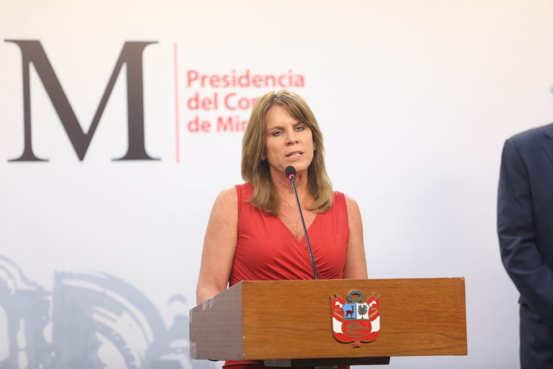Titular del Midis, Cayetana Aljovín. Foto: Andina/Difusión
