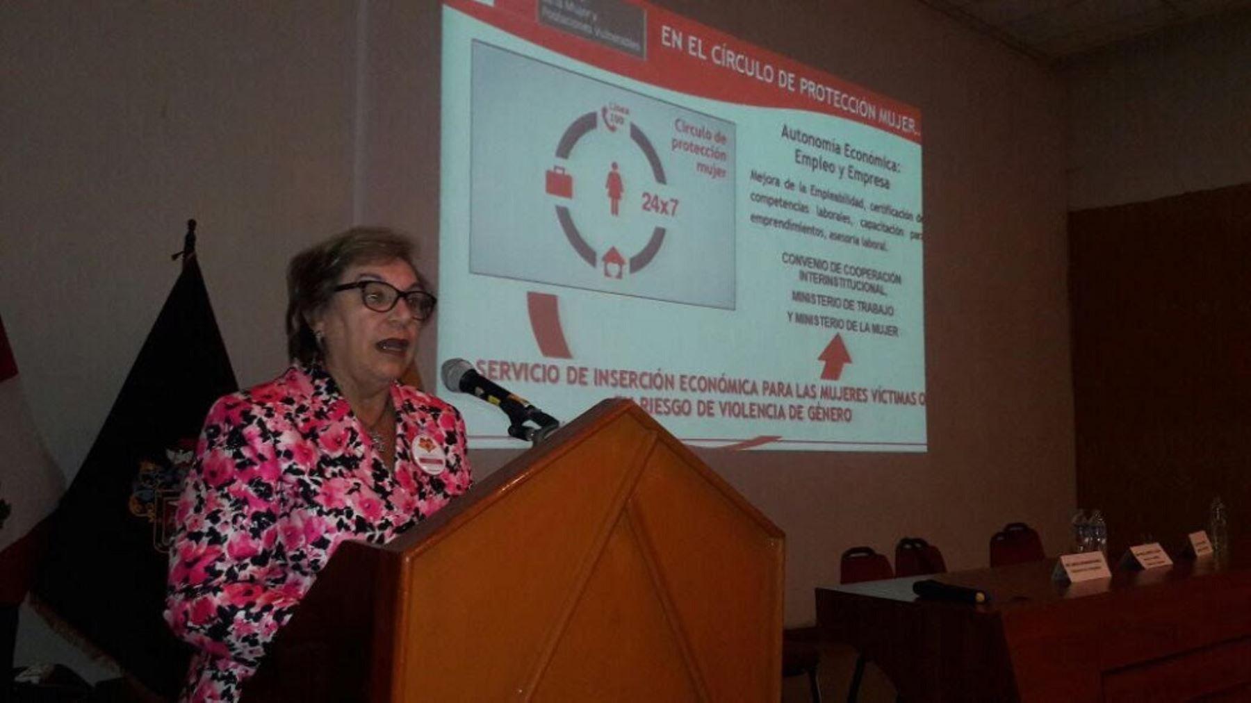 La ministra de la Mujer y Poblaciones Vulnerables, Ana María Romero-Lozada, participó en la segunda sesión de la Instancia Regional de Concertación, espacio donde las autoridades articulan esfuerzos para atender y prevenir los casos de violencia.