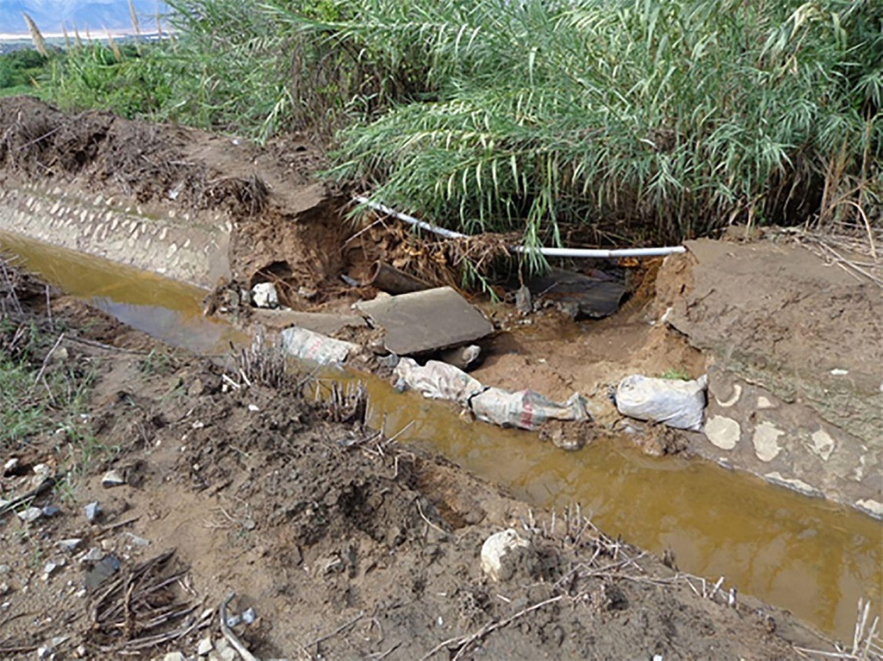 Obras de infraestructura de riego. Foto: ANDINA/Difusión