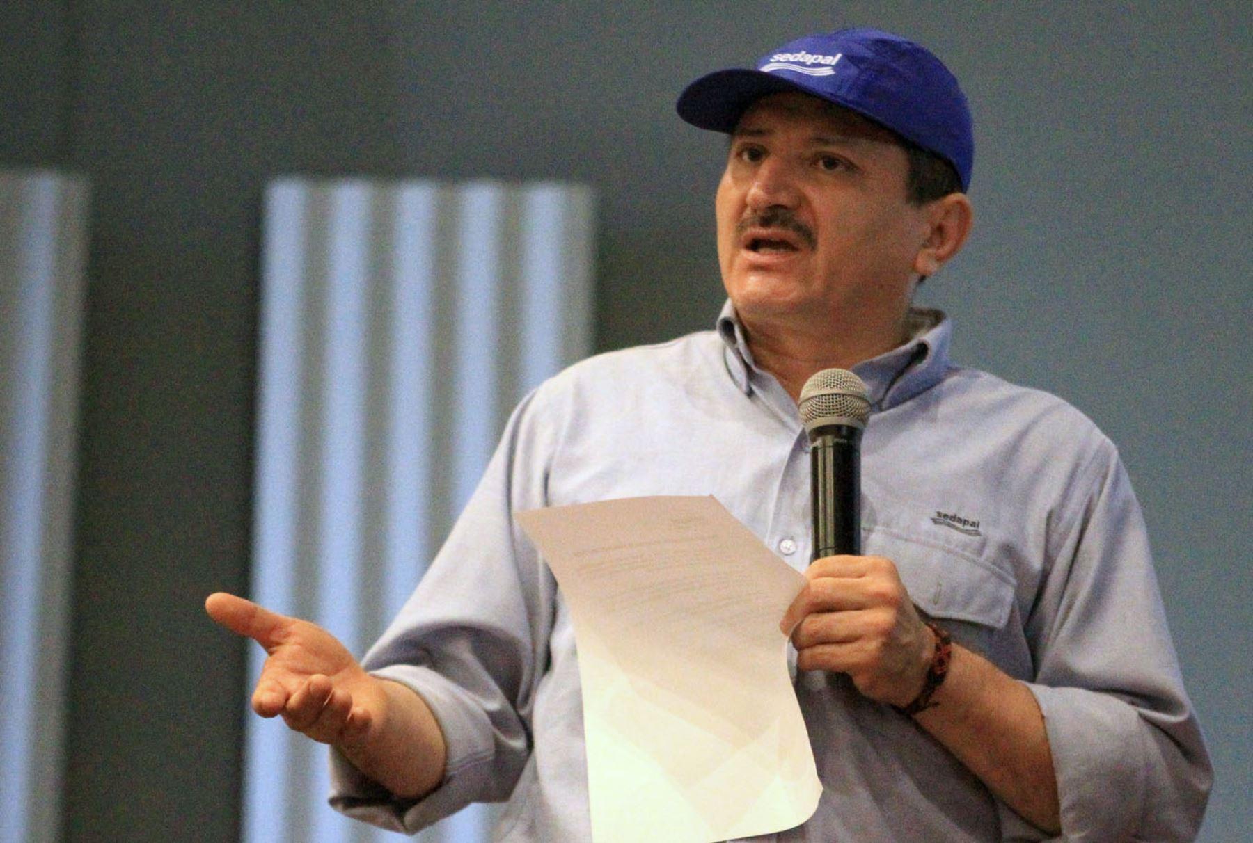 Presidente del Directorio de Sedapal, Rudecindo Vega. ANDINA/Héctor Vinces