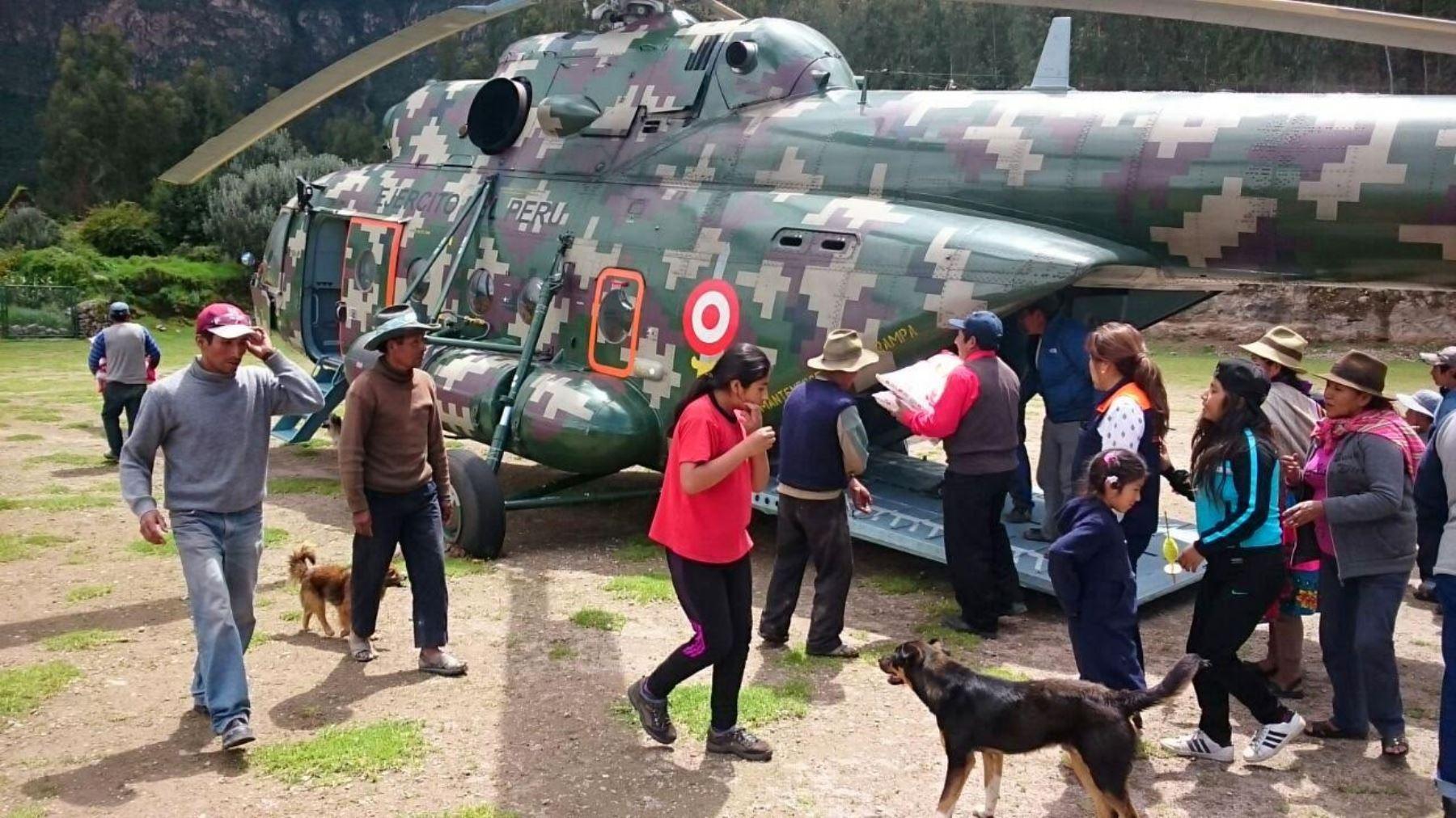Llevan ayuda a Pampamarca en Arequipa.