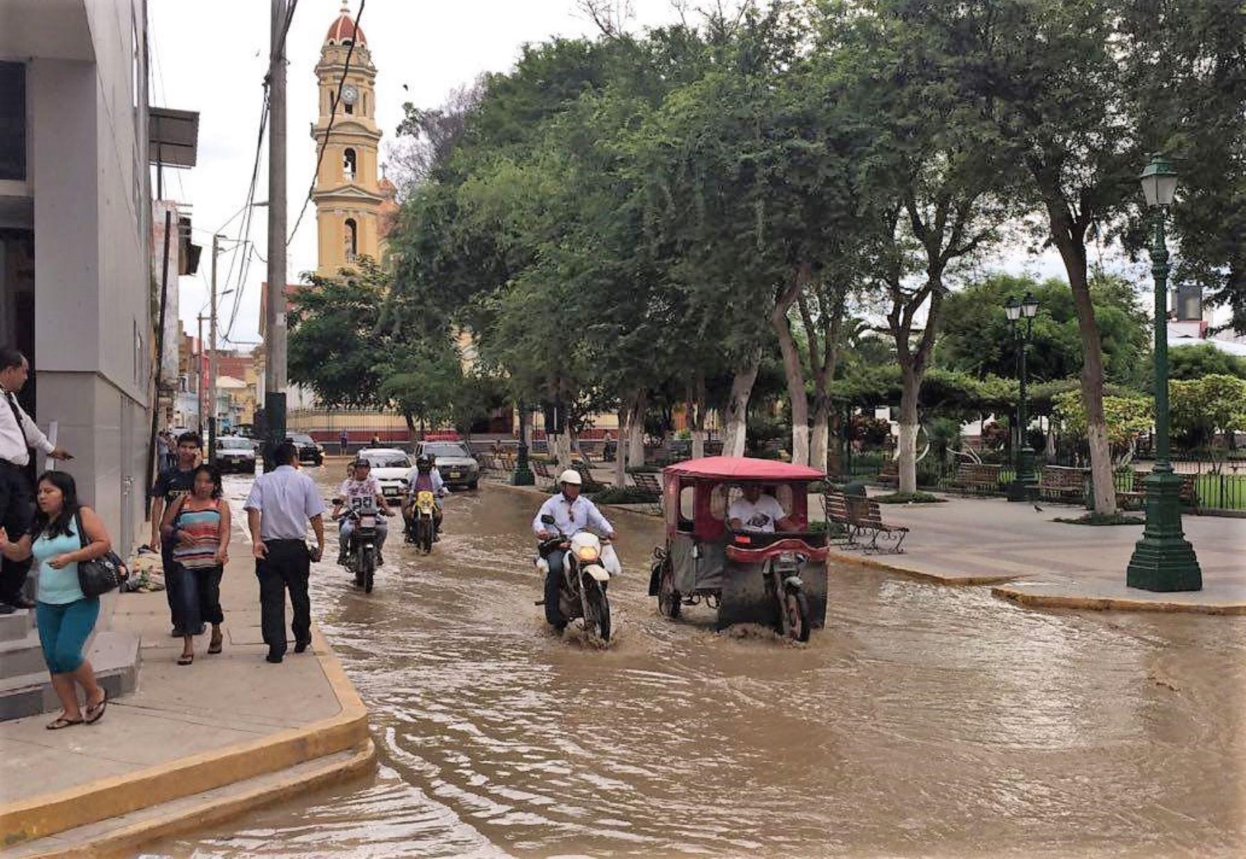 La ciudad de Piura será una de las beneficiadas con la construcción del sistema de drenaje pluvial. ANDINA