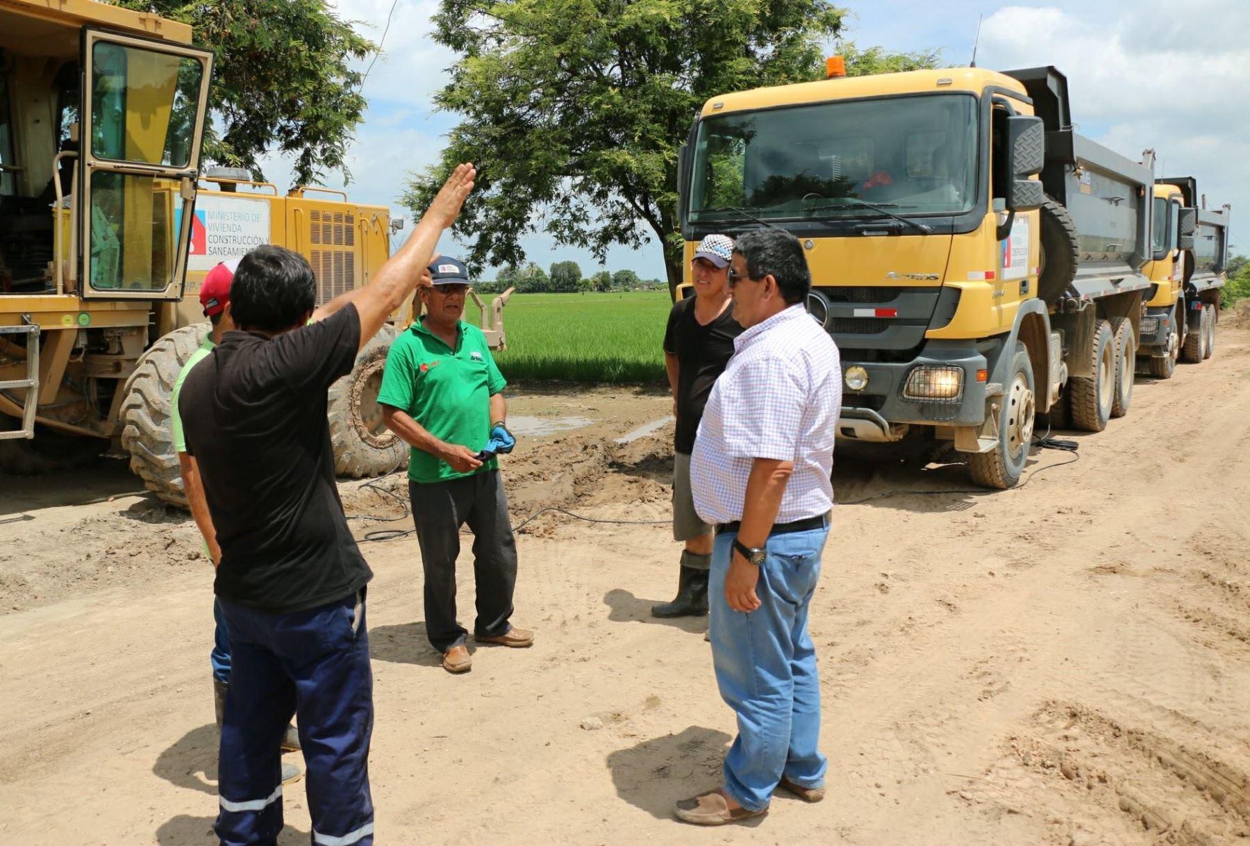 Habilitan vía alterna en kilómetro 75 de vía Huaraz-Pativilca tras colapso por lluvias. ANDINA