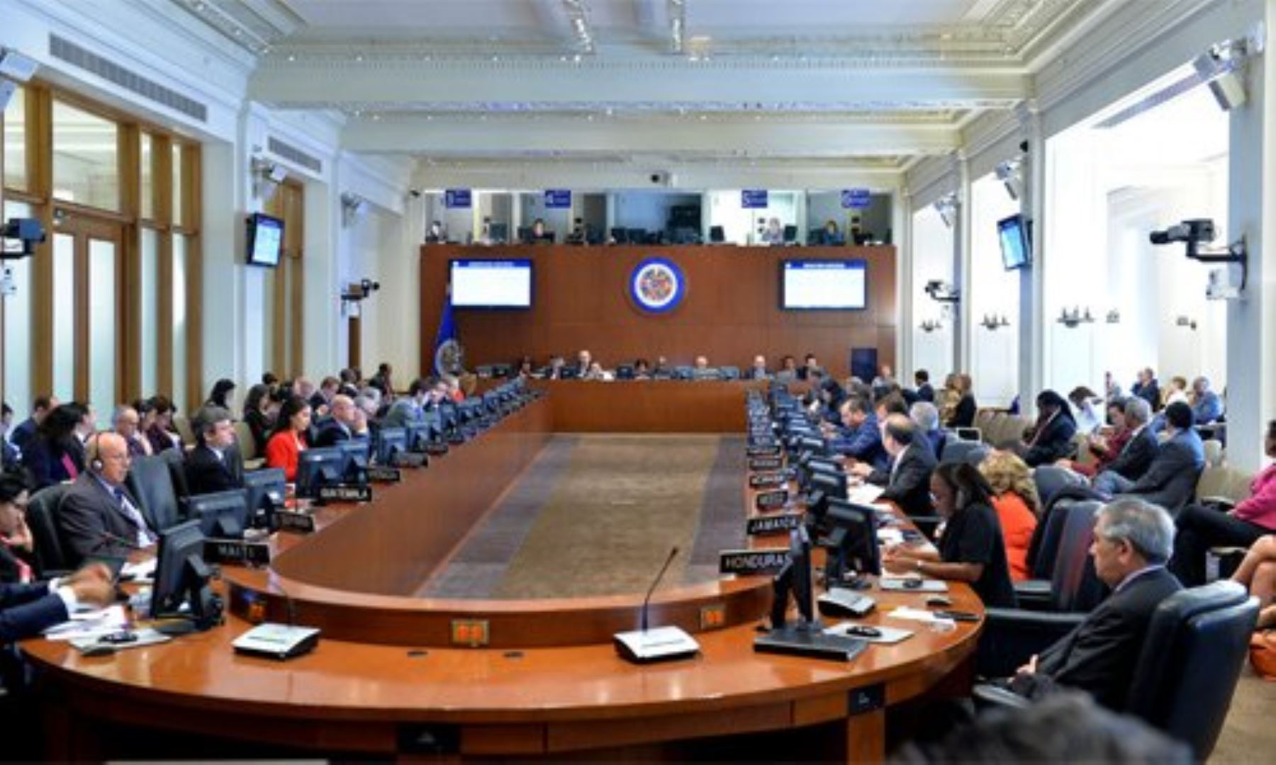 Sesión extraordinaria de la OEA. Difusión