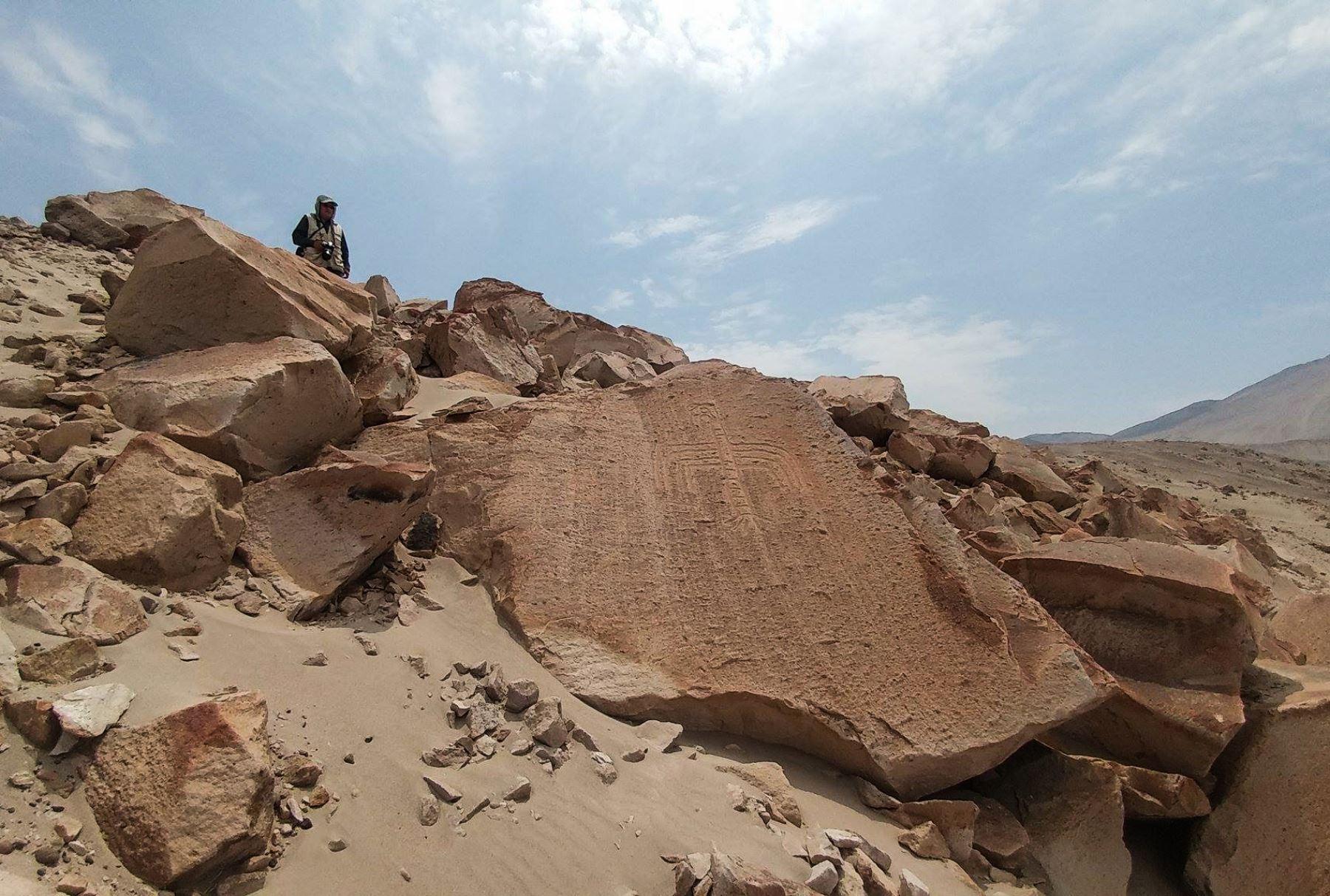 Arequipa postulará a los petroglifos de Toro Muerto ante la Unesco. ANDINA/Carlos Lezama