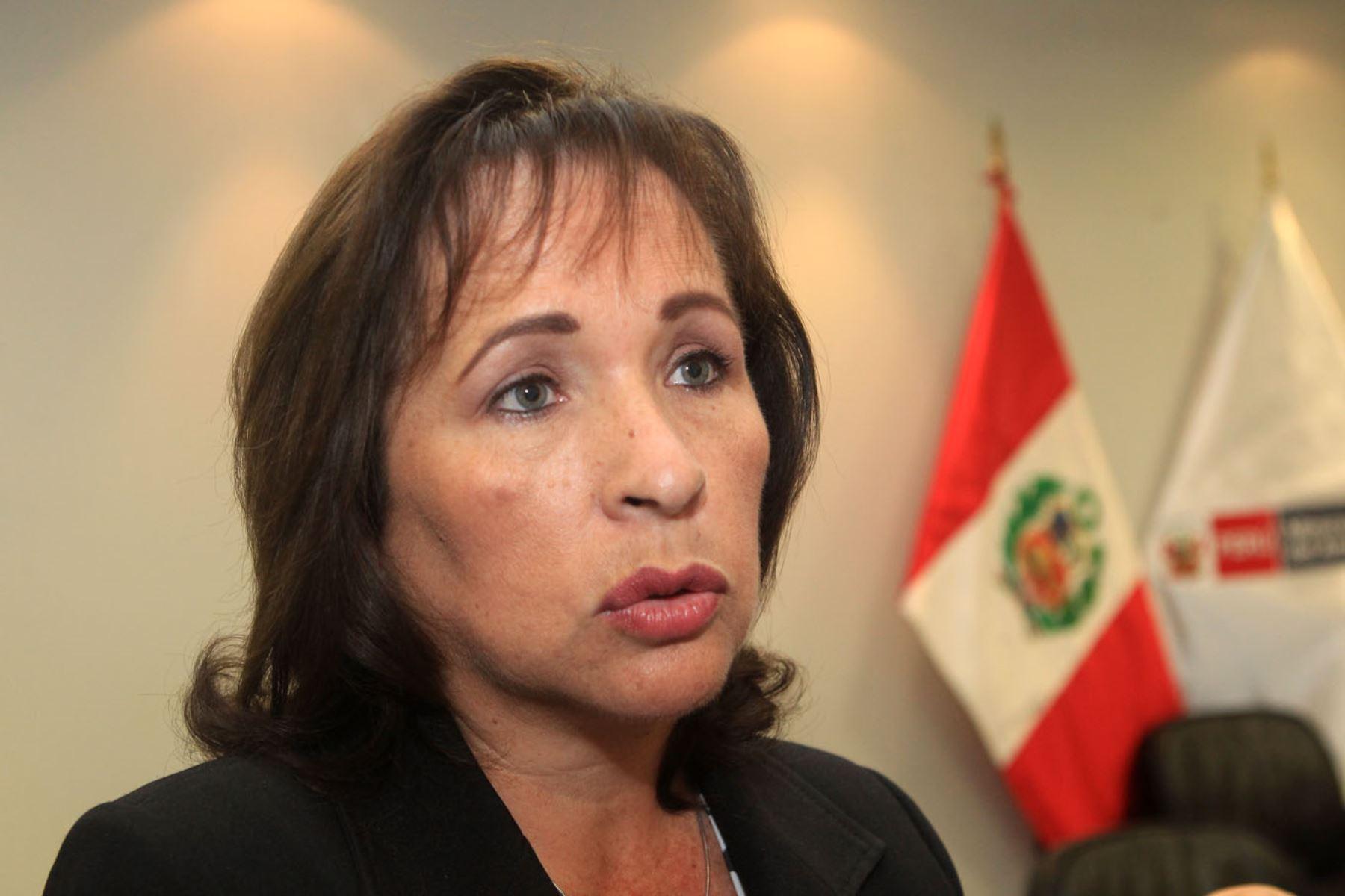 Ministra de Ambiente, Elsa Galarza. ANDINA/Héctor Vinces
