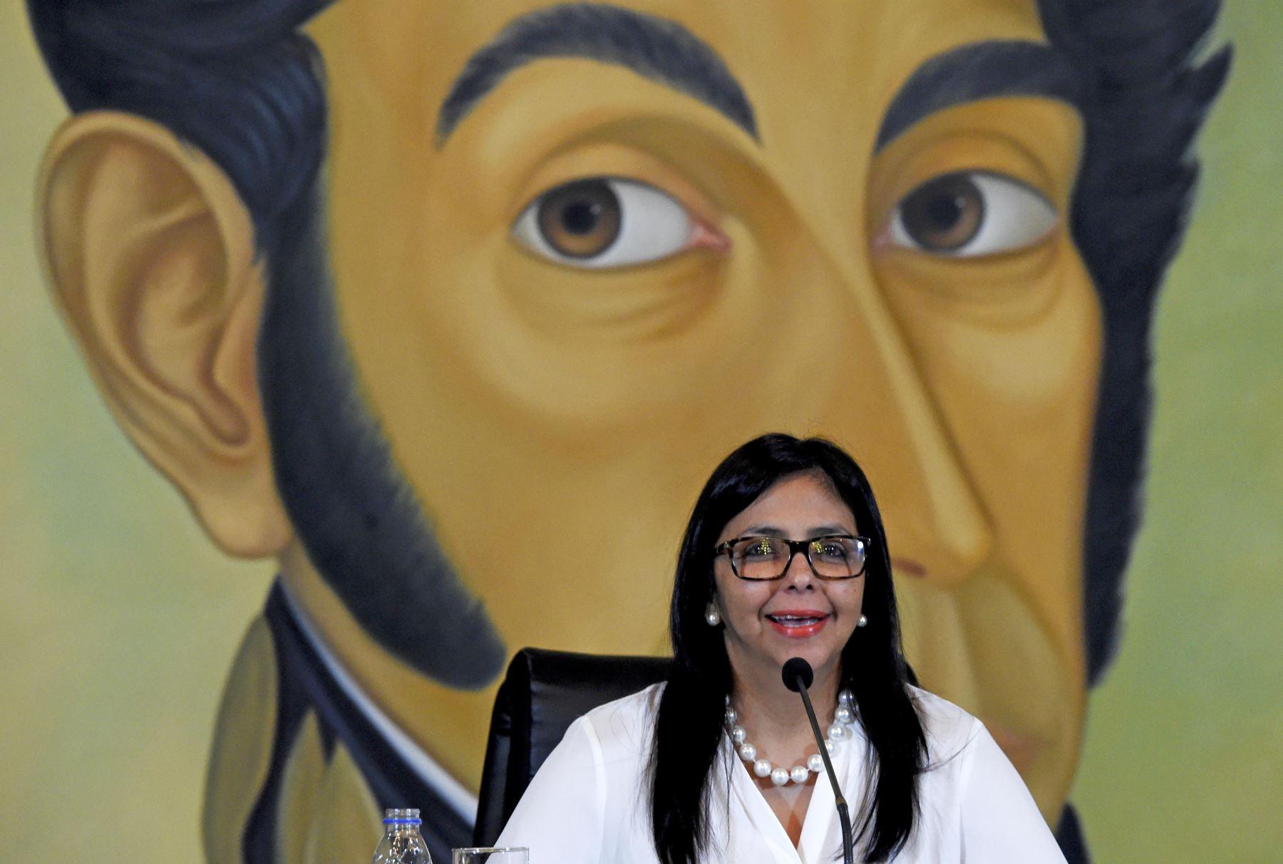 Delcy Rodríguez. Foto: AFP