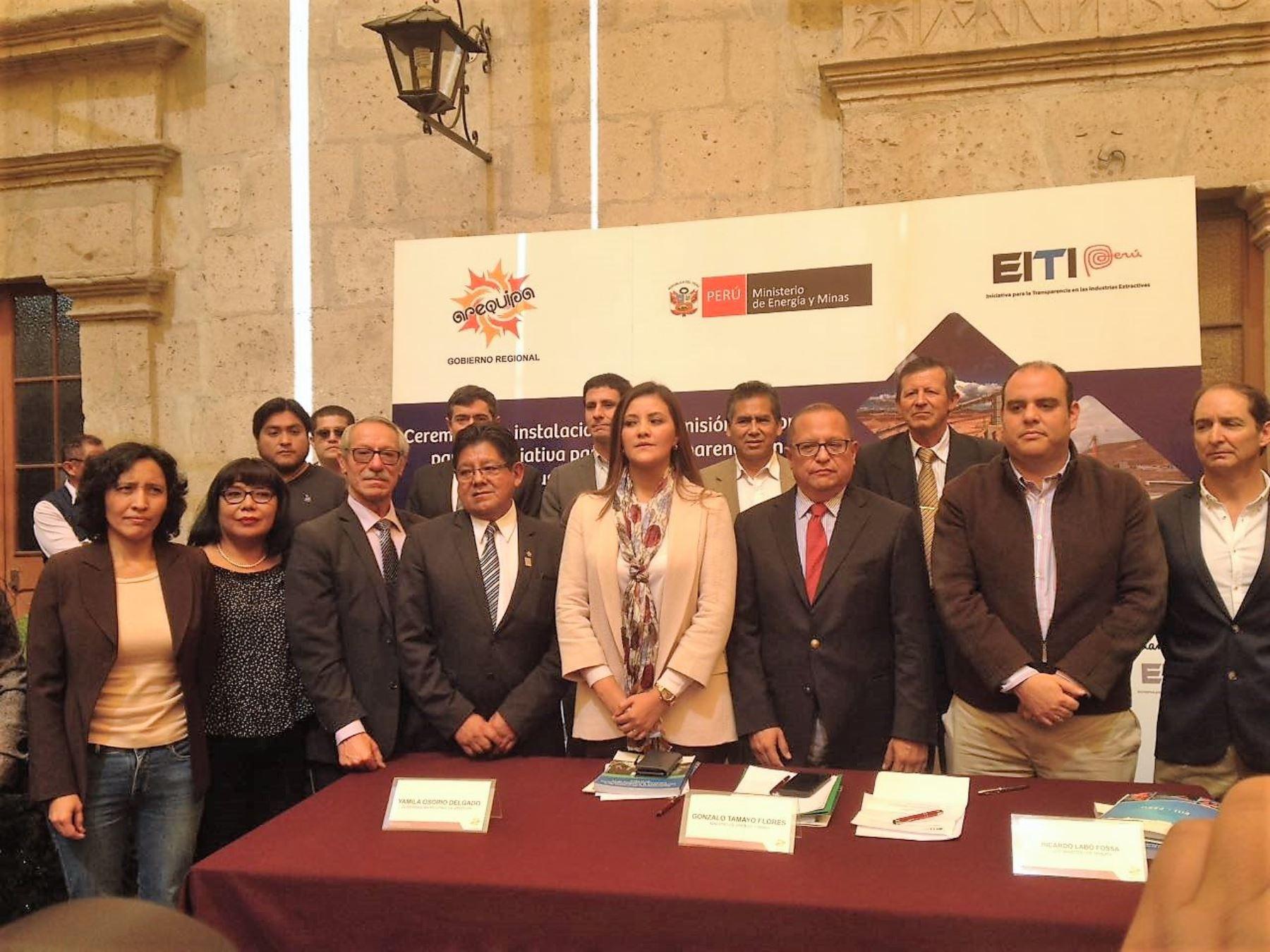 Instalan comisión en Arequipa que promoverá transparencia de aportes del canon. ANDINA