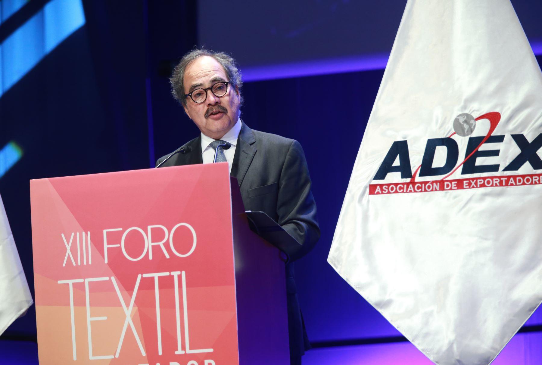 Presidente de Adex, Juan Varilias. ANDINA/Norman Córdova