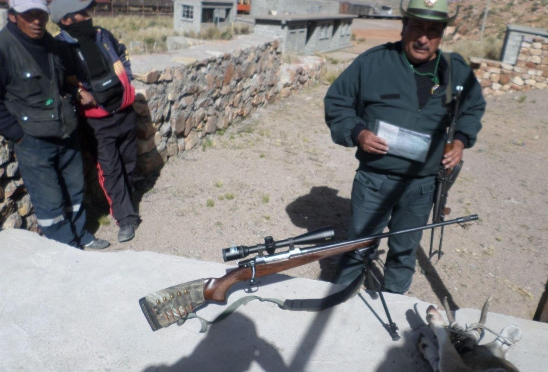 Capturan a presuntos cazadores furtivos en área natural protegida de Arequipa. ANDINA
