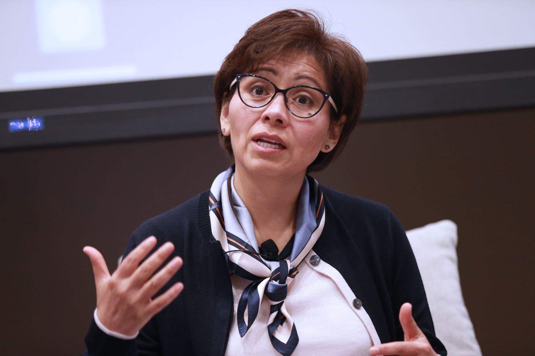 Representante del Banco Interamericano de Desarrollo (BID) en el Perú, Viviana Caro. ANDINA/Norman Córdova