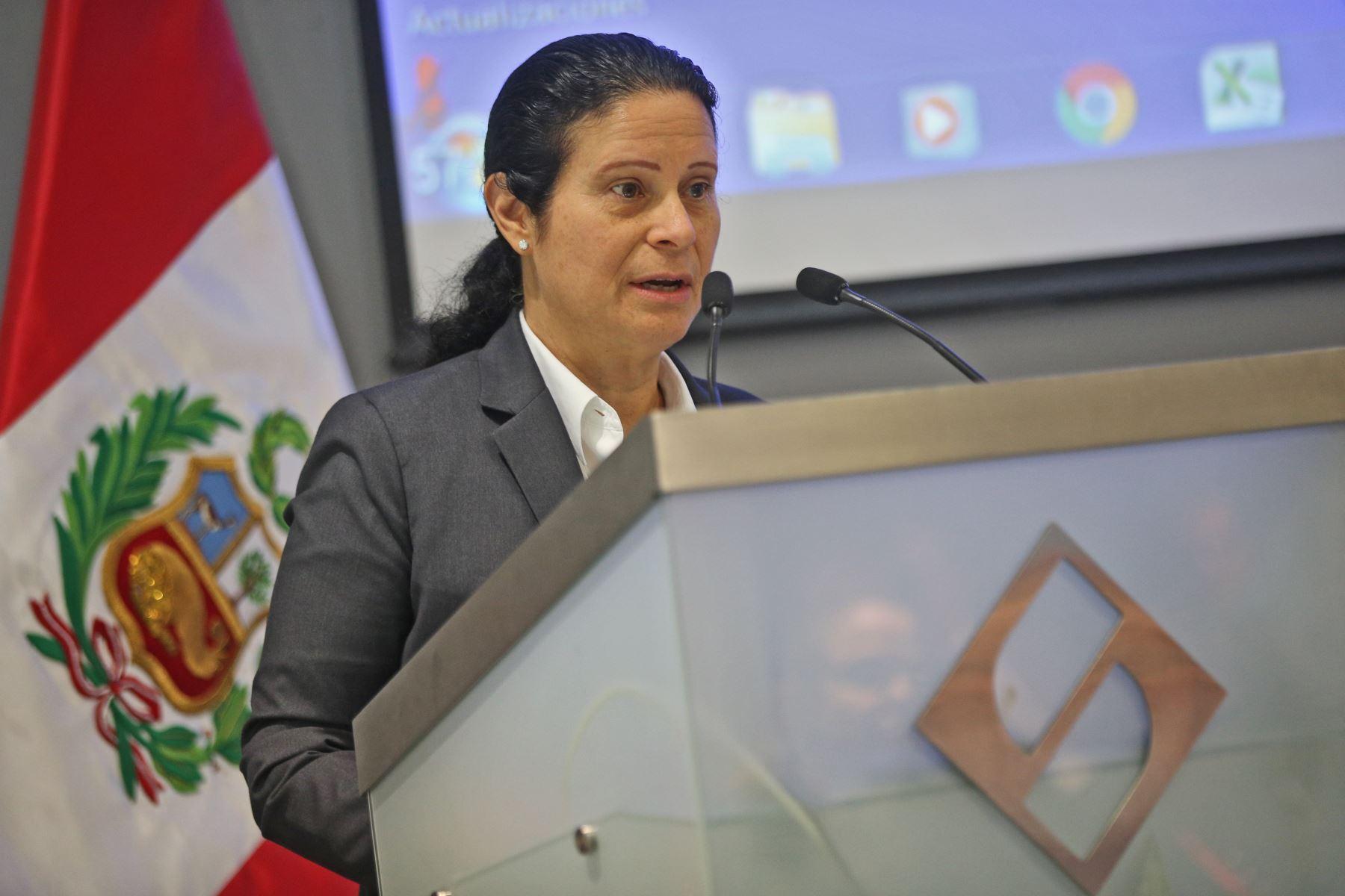 Socorro Heysen, jefe de la Superintendencia de Banca, Seguros y AFP (SBS). Foto: ANDINA/archivo