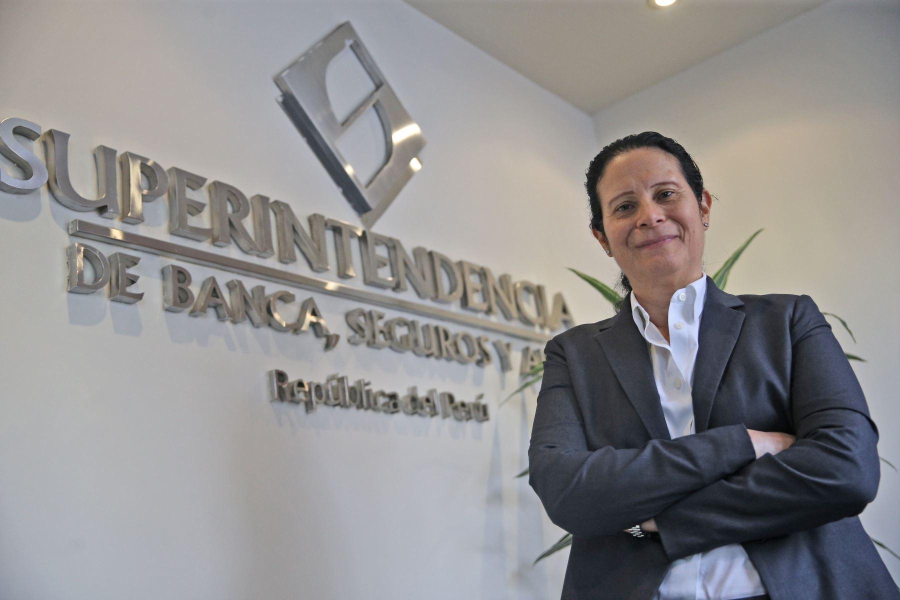 Superintendenta de la Superintendencia de Banca, Seguros y AFP (SBS). Foto: ANDINA/archivo