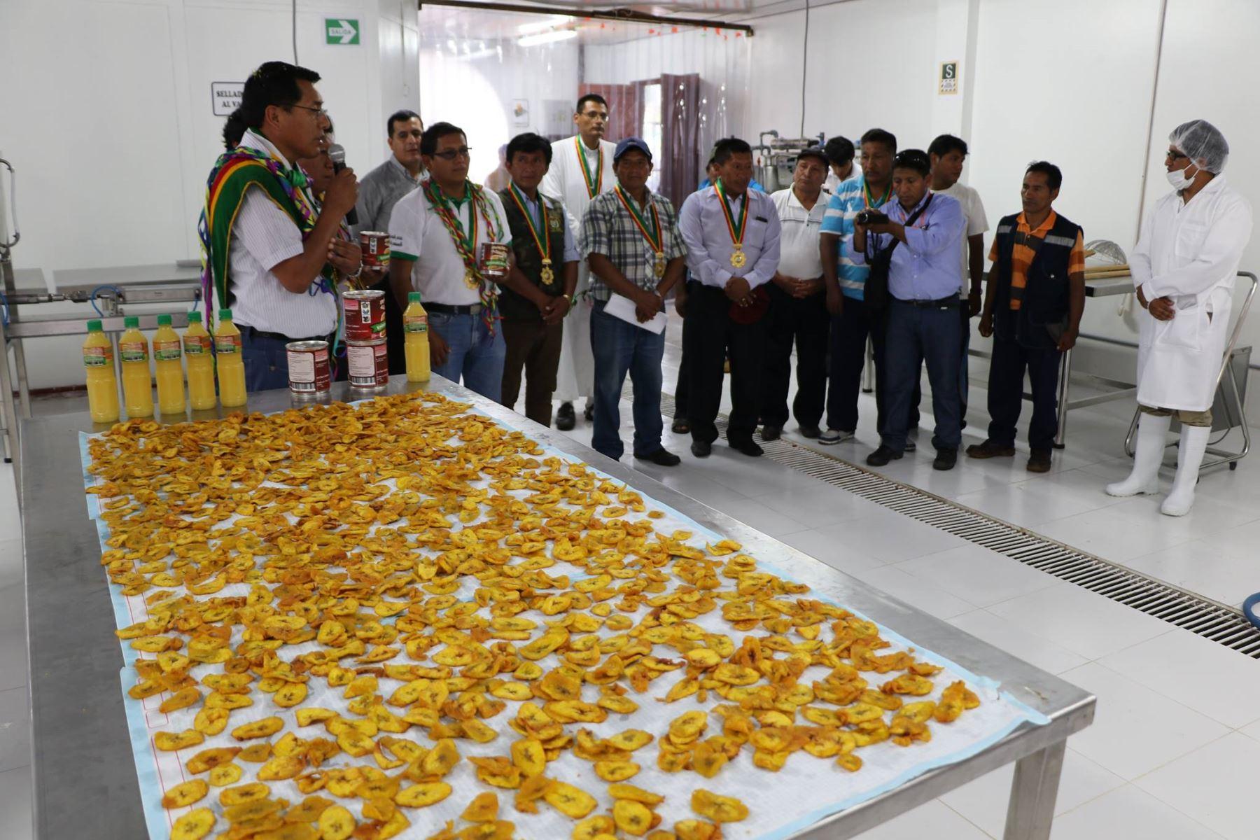 Con nueva planta procesadora, agricultores de San Gabán, en Puno, fabricarán néctares de fruta. ANDINA