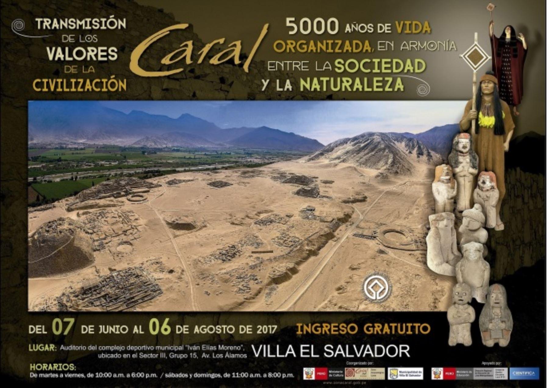 Exposición museográfica Caral, Foto: Andina/Difusión
