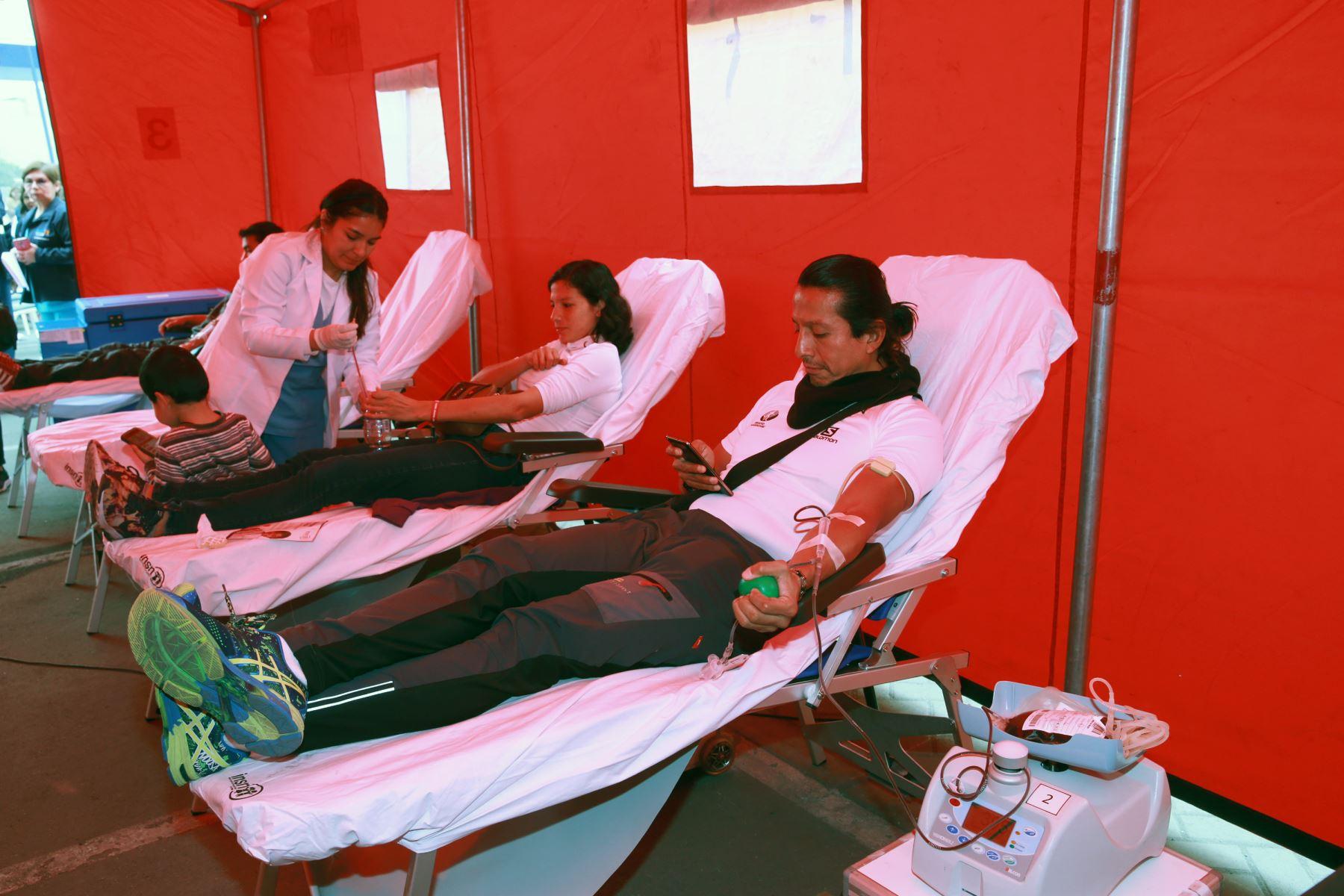 Buscan crear cultura de donación de sangre. Foto: ANDINA/Norman Córdova