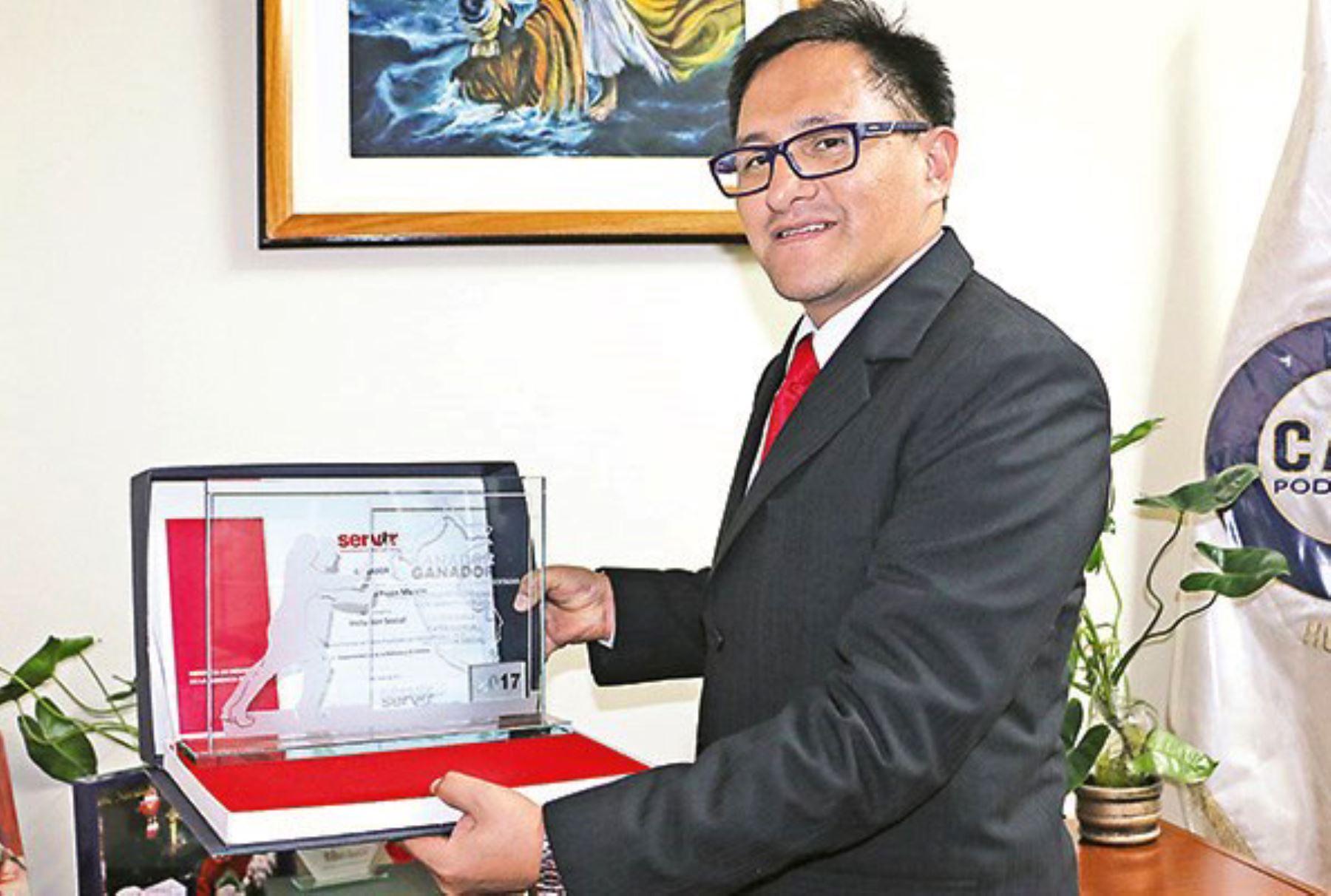 Picón Marcos es gerente de Administración de la Corte Superior de Justicia de Huánuco. Foto: Difusión