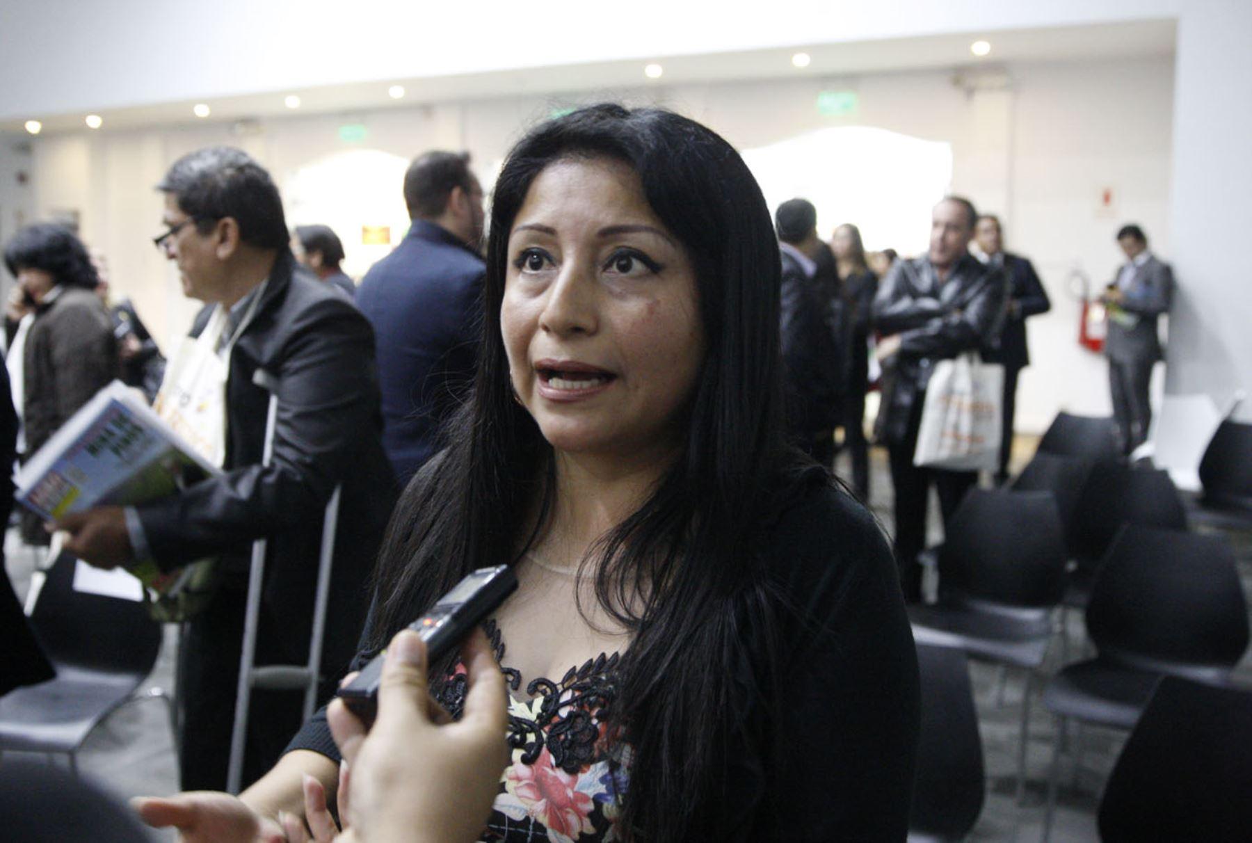 Directora de Inversión Descentralizada de Proinversión, Denisse Miralles. ANDINA/Eddy Ramos