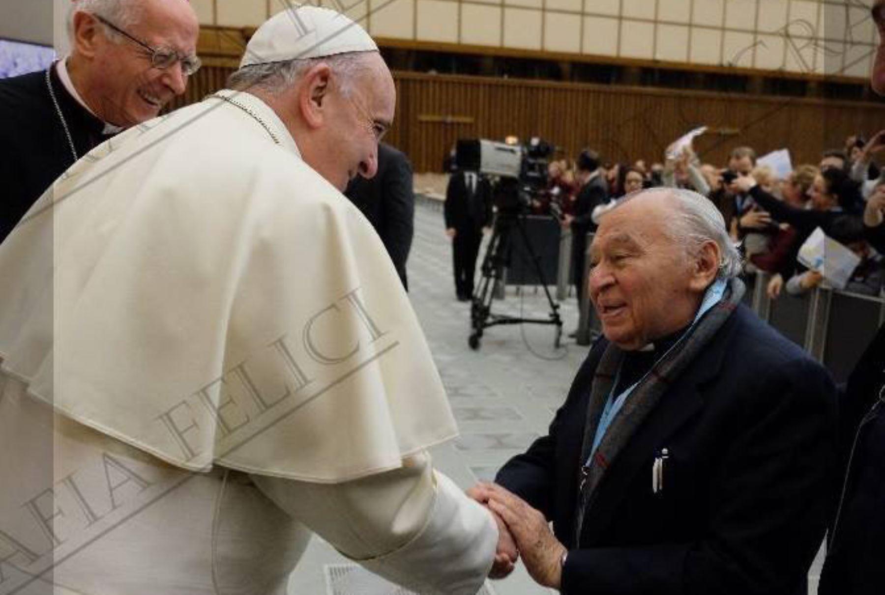 Papa Francisco y el padre Gustavo Gutiérrez. Foto: INTERNET/Medios