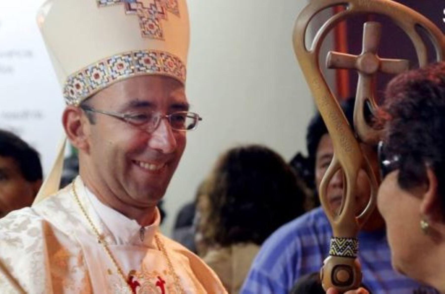 Obispo del Vicariato Apostólico de Puerto Maldonado, David Martínez de Aguirre Guinea.Foto: Internet