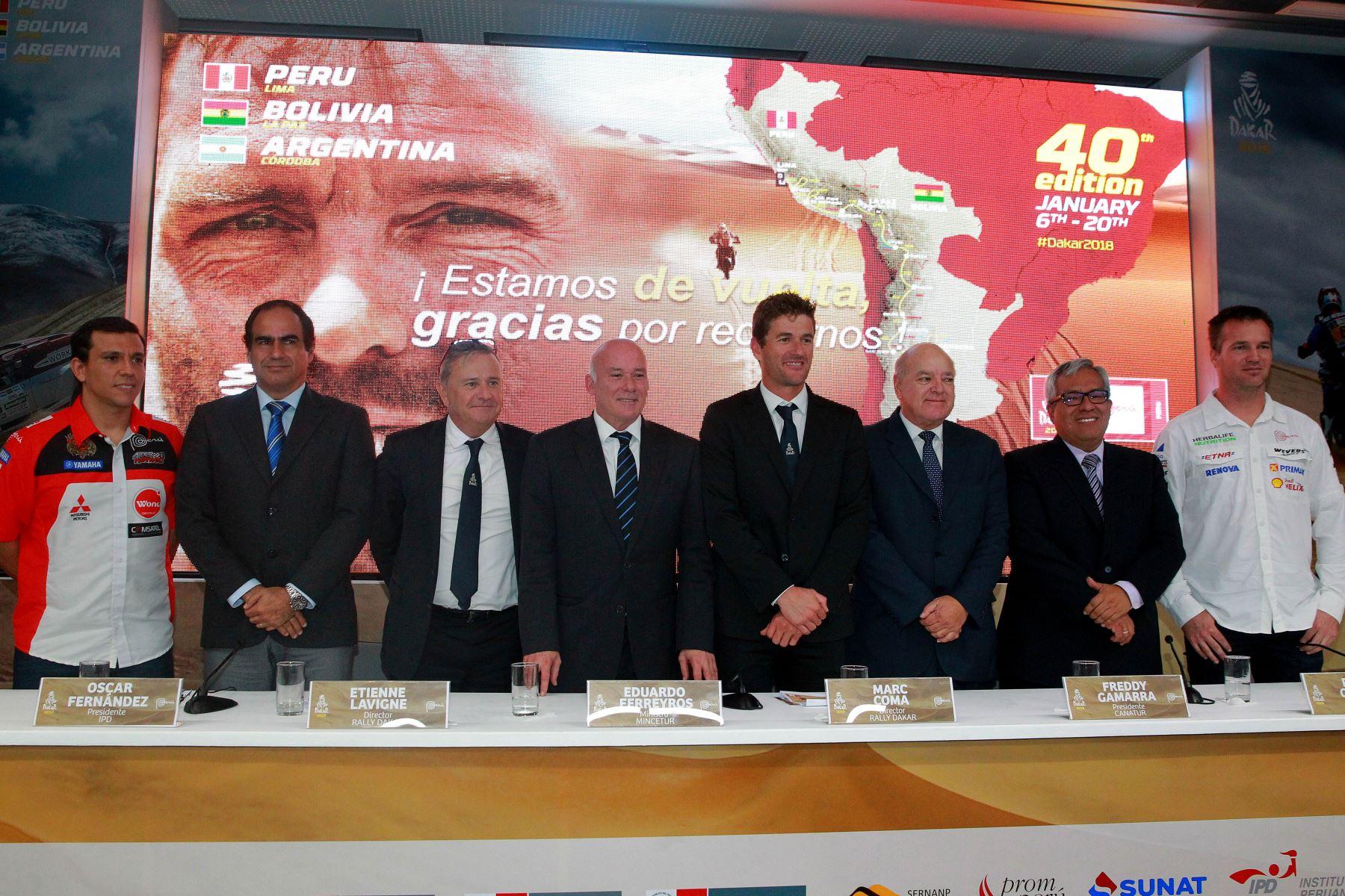 20/06/2017   EL ministro de Comercio Exterior y Turismo presenta, en conferencia de prensa, la 40 edición del Rally Dakar que se iniciará en nuestro país. Foto: ANDINA/Luis Iparraguirre